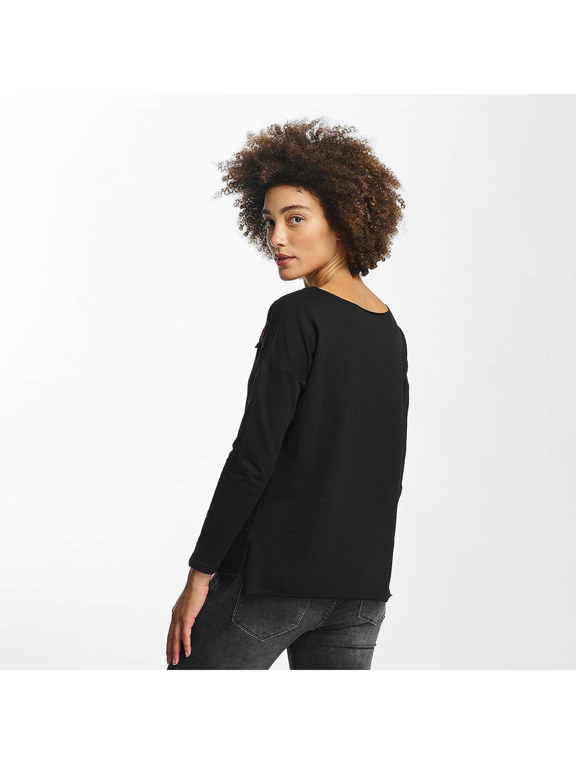 Hailys T-Shirt manches longues Rosy noir