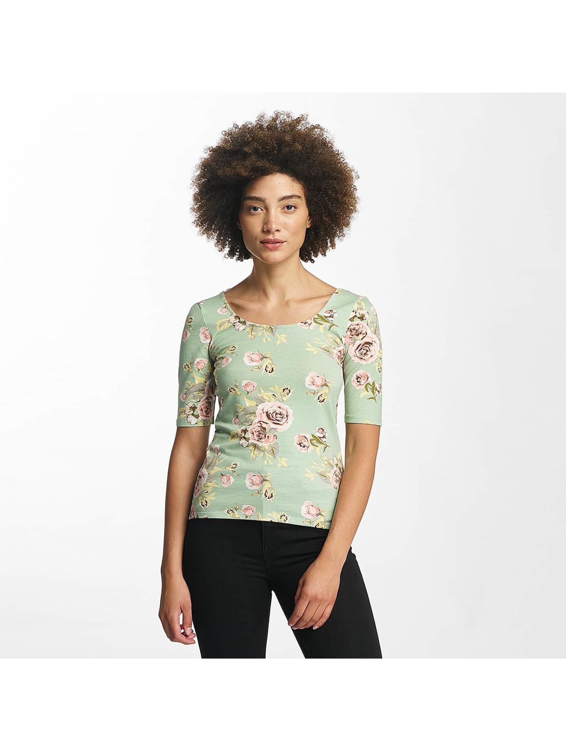 Hailys T-Shirt manches longues Rachel Flower vert