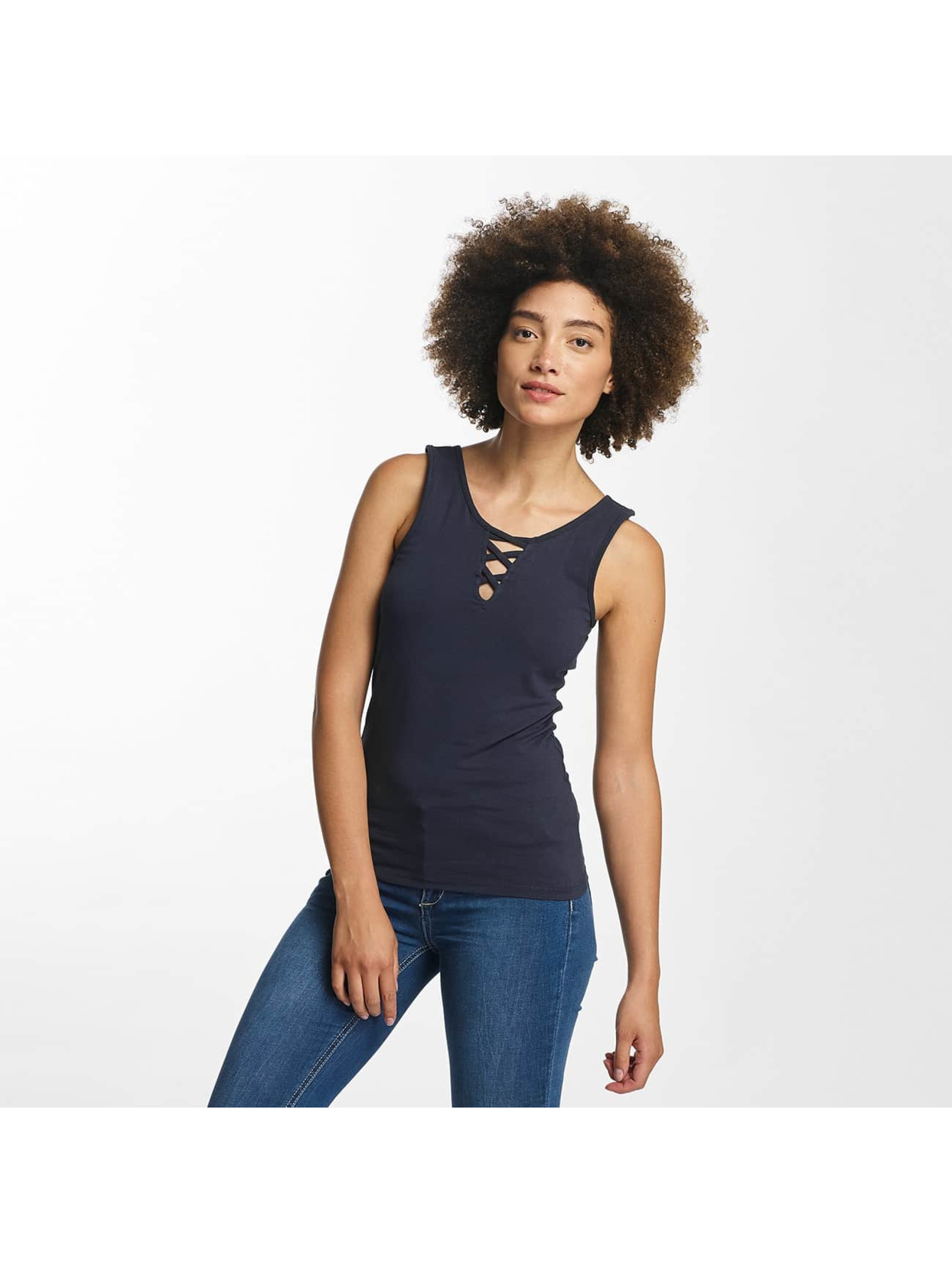 Hailys Top Ann Lace-Up azul