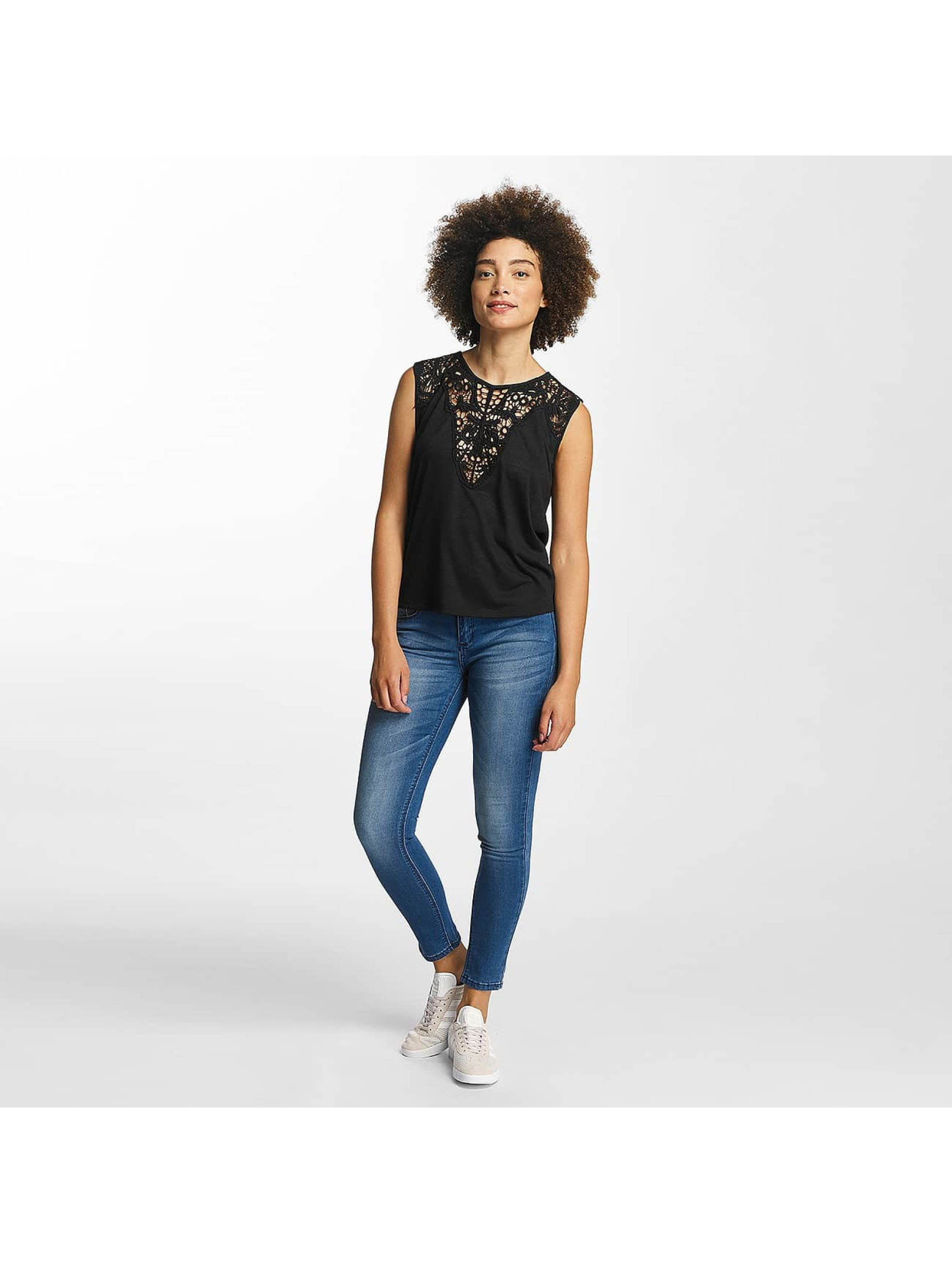 Hailys Top Oni Lace negro