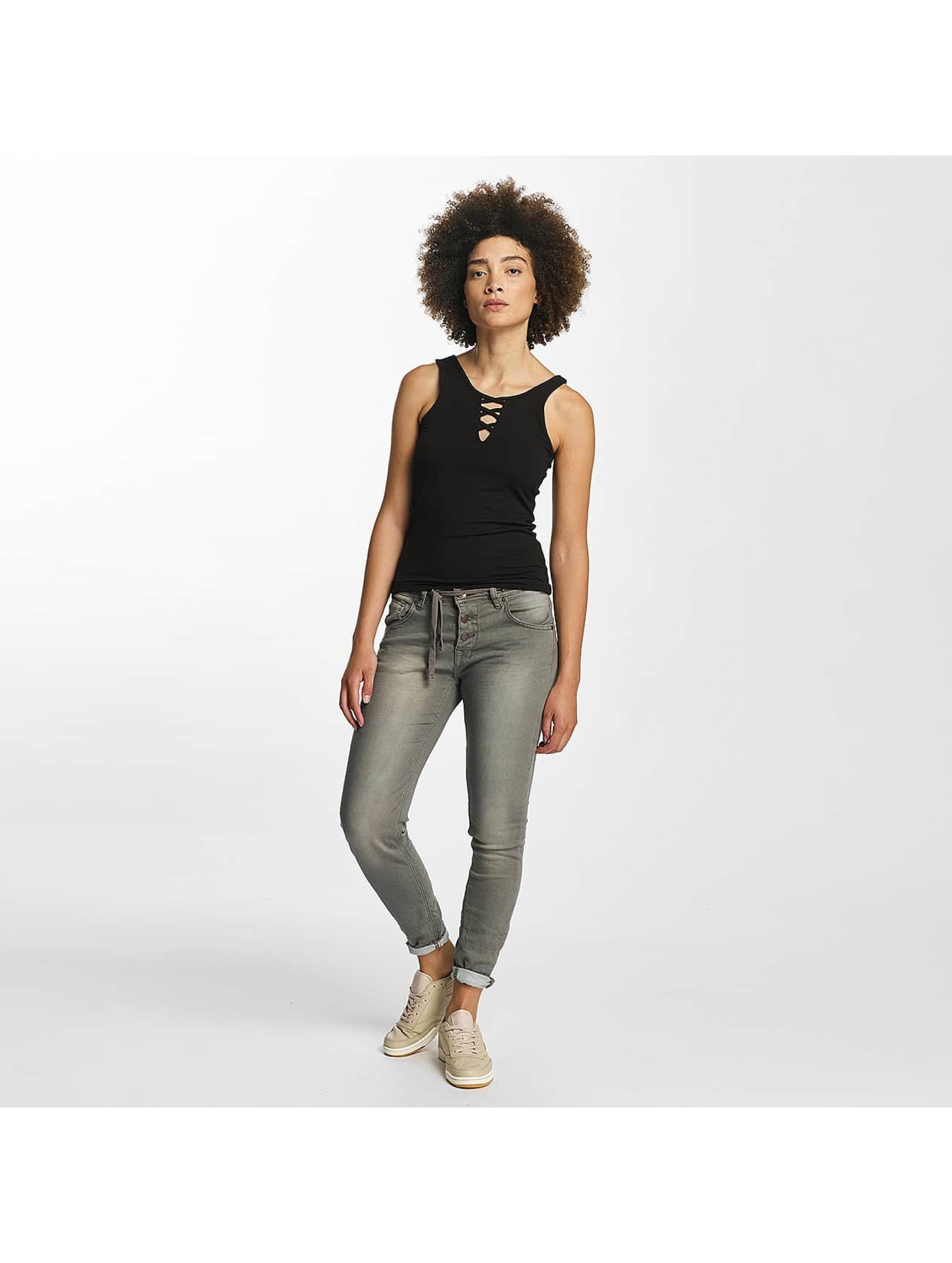 Hailys Top Ann Lace-Up negro