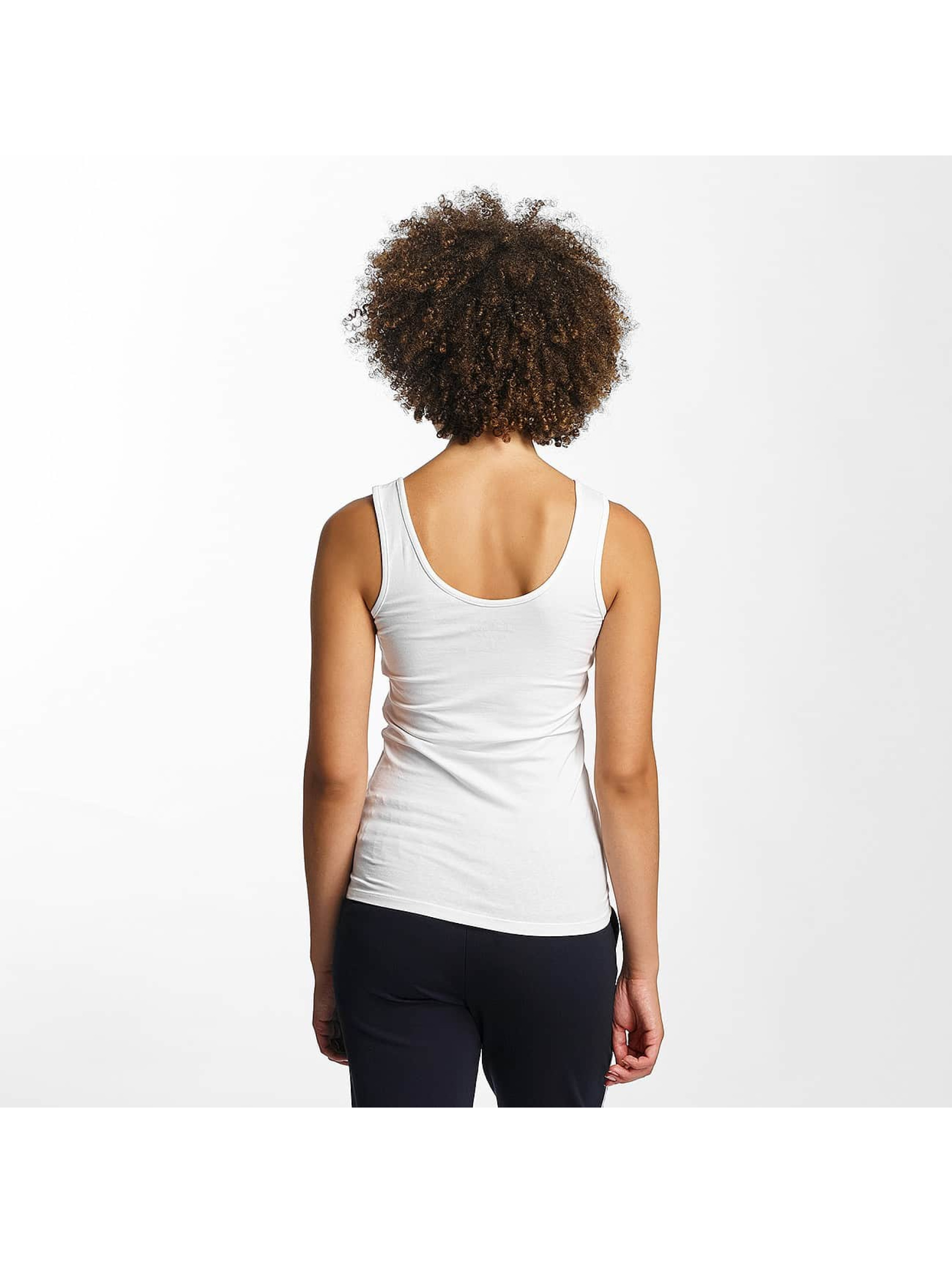 Hailys Tops sans manche Ann Lace-Up blanc
