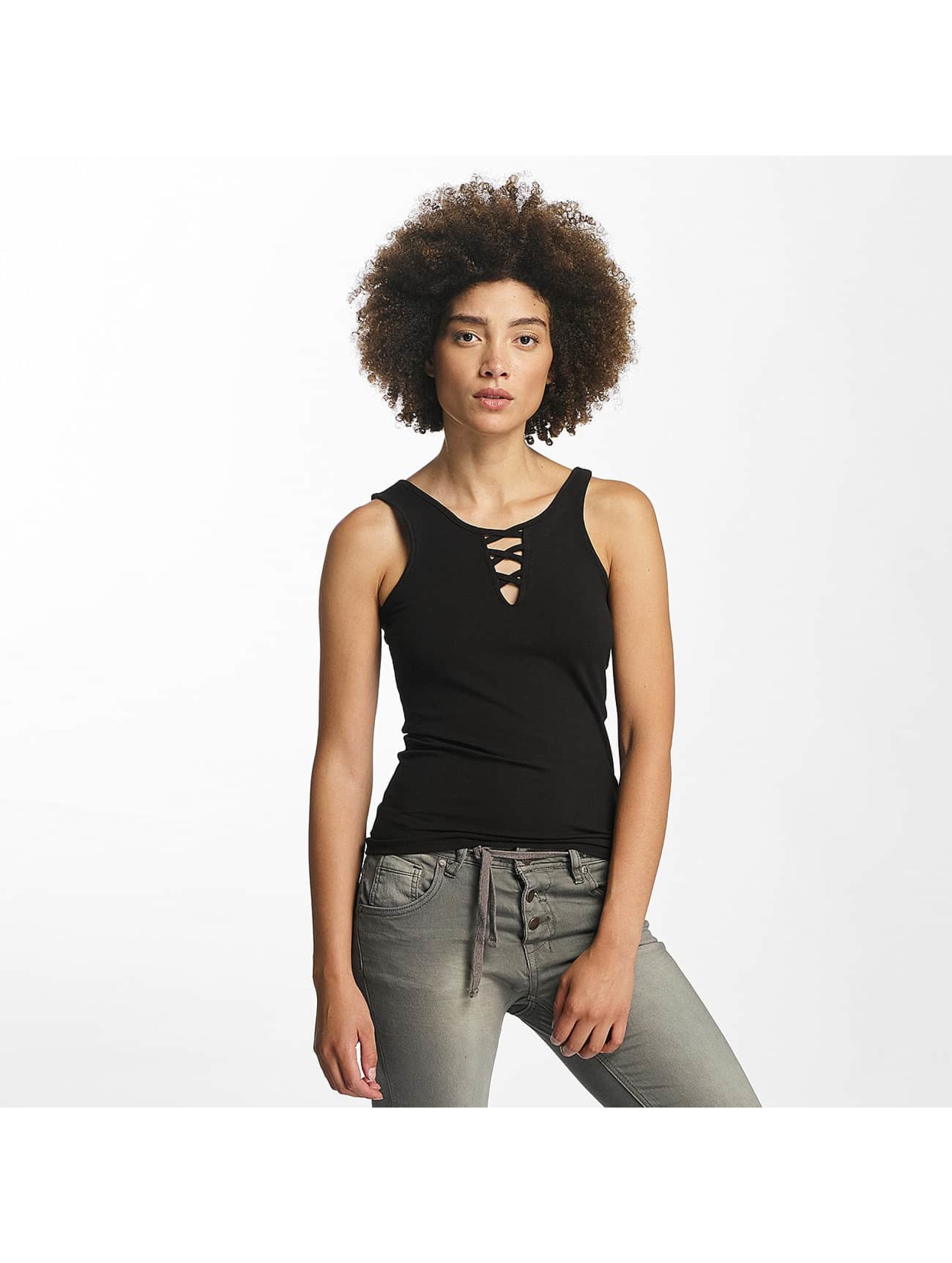 Hailys Tops sans manche Ann Lace-Up noir