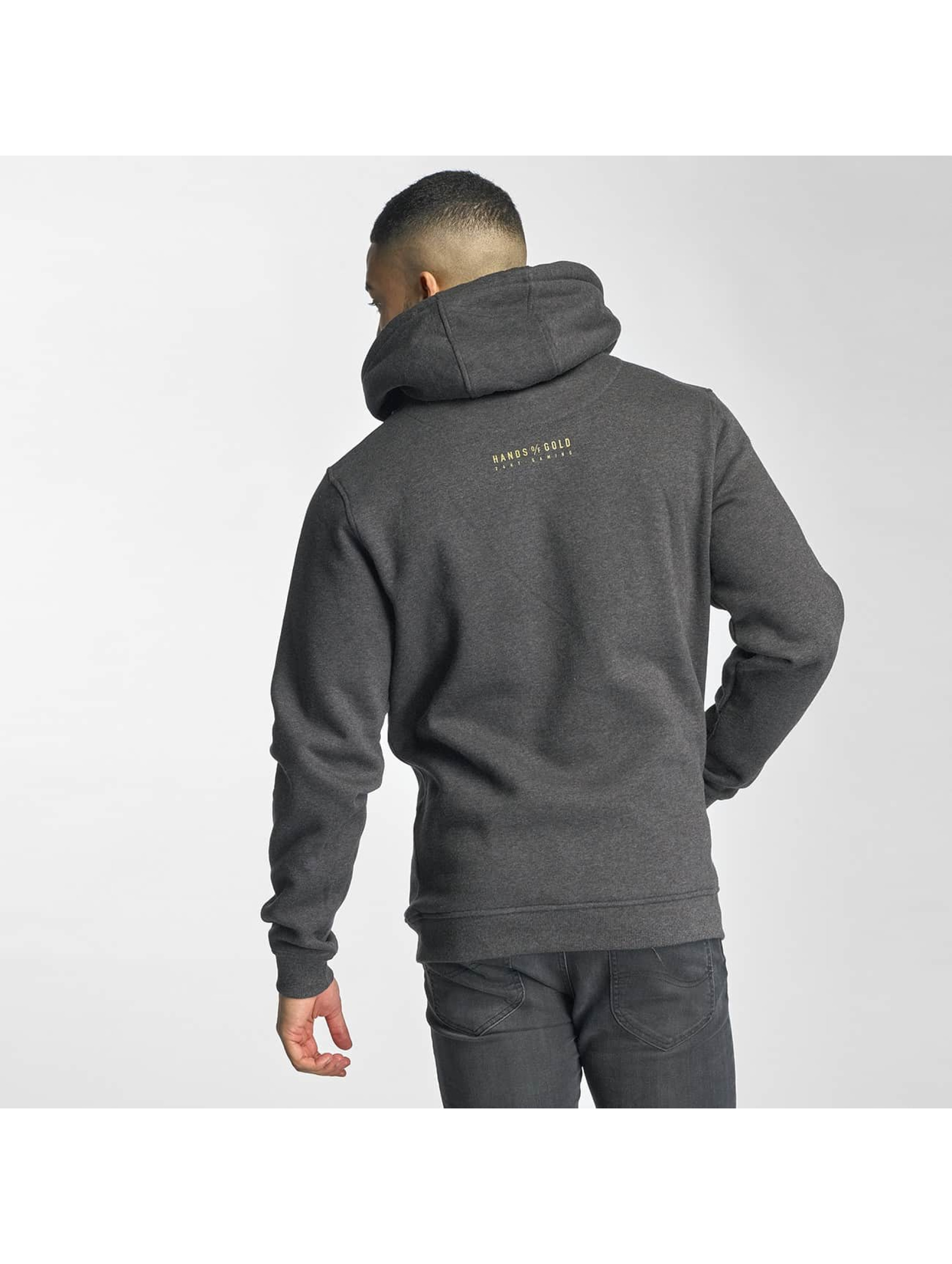 Hands of Gold Hoodies Game On grå