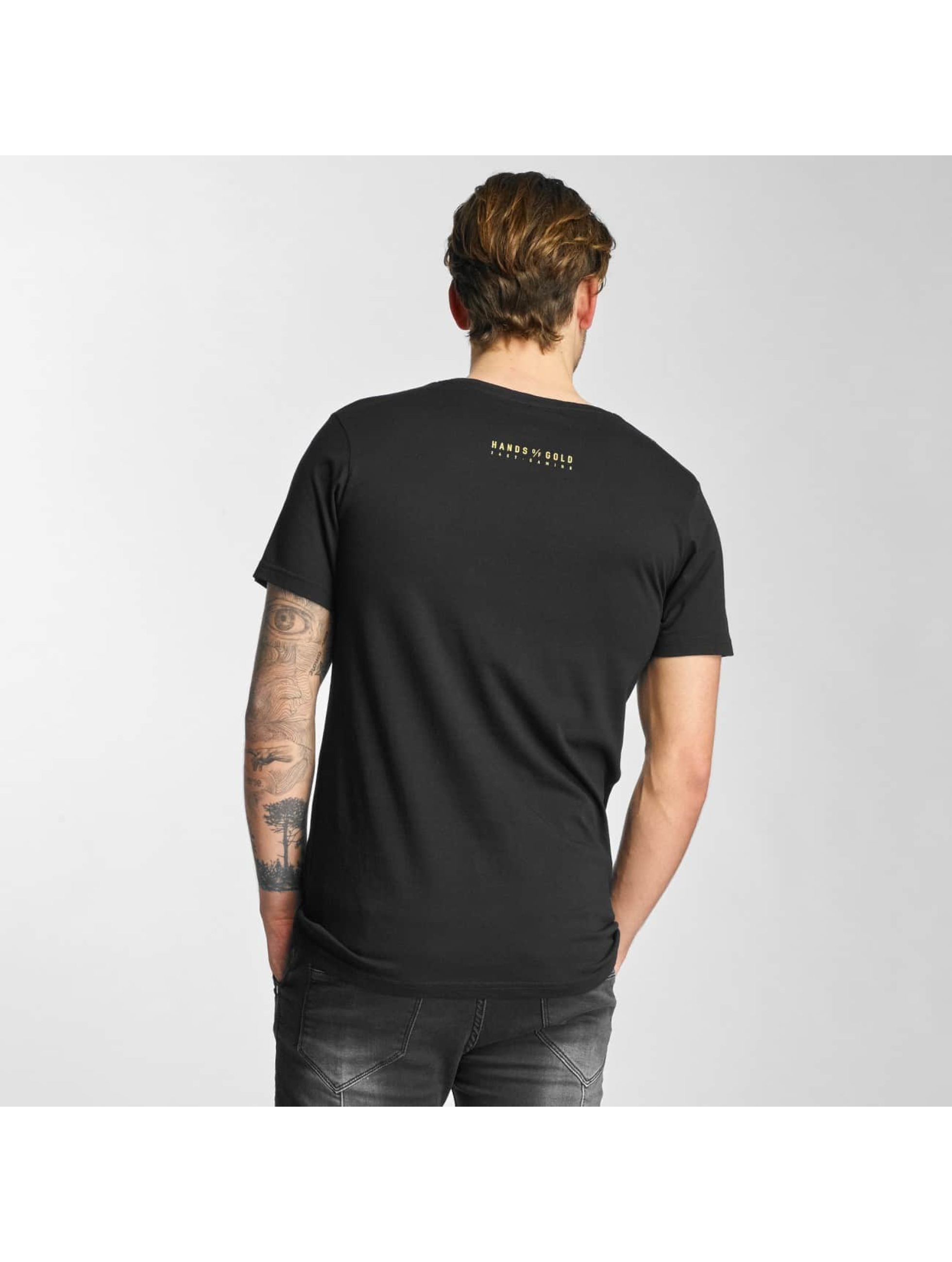 Hands of Gold T-Shirt Bros Before Hoes noir