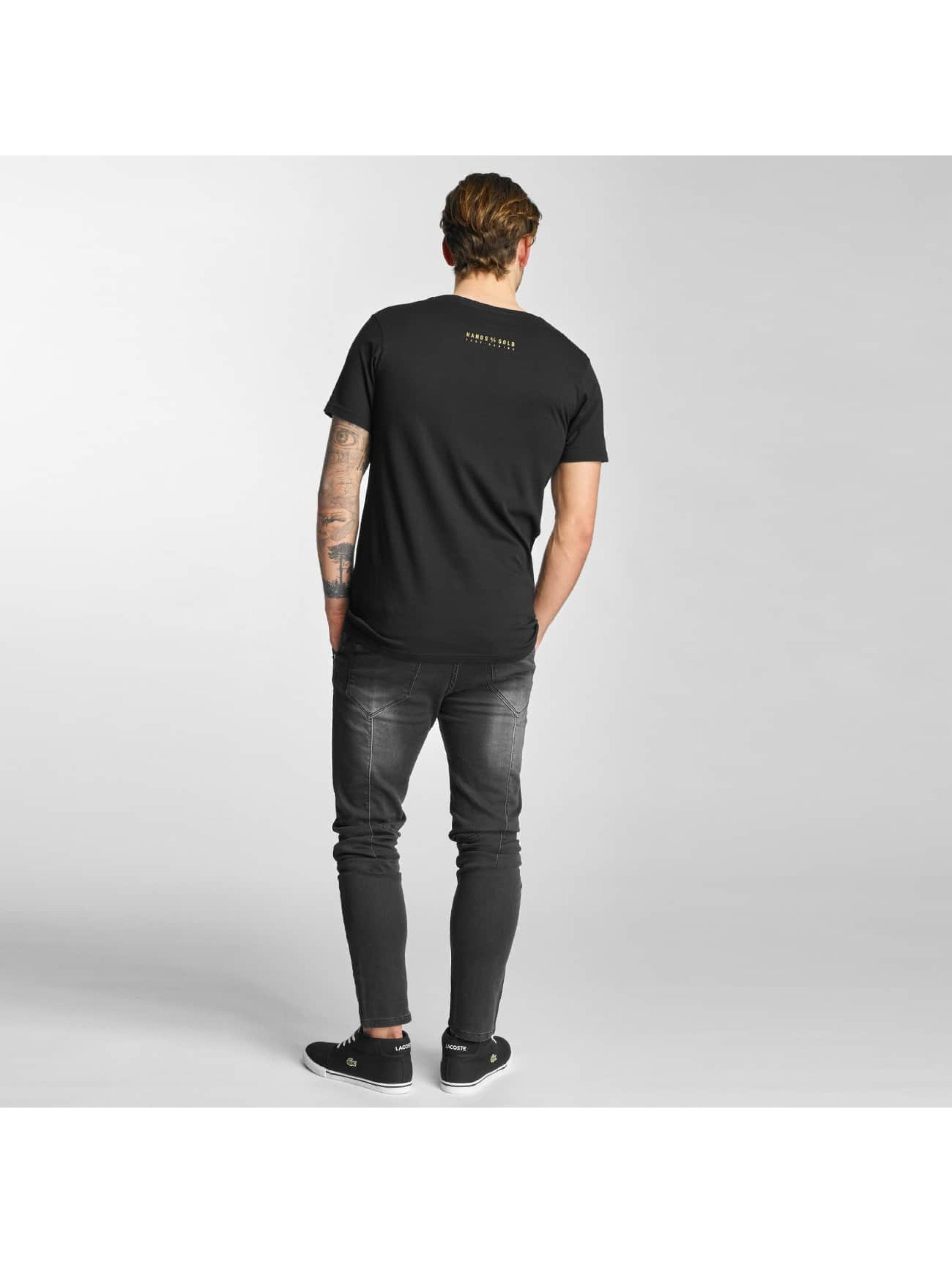 Hands of Gold t-shirt Oldschool zwart