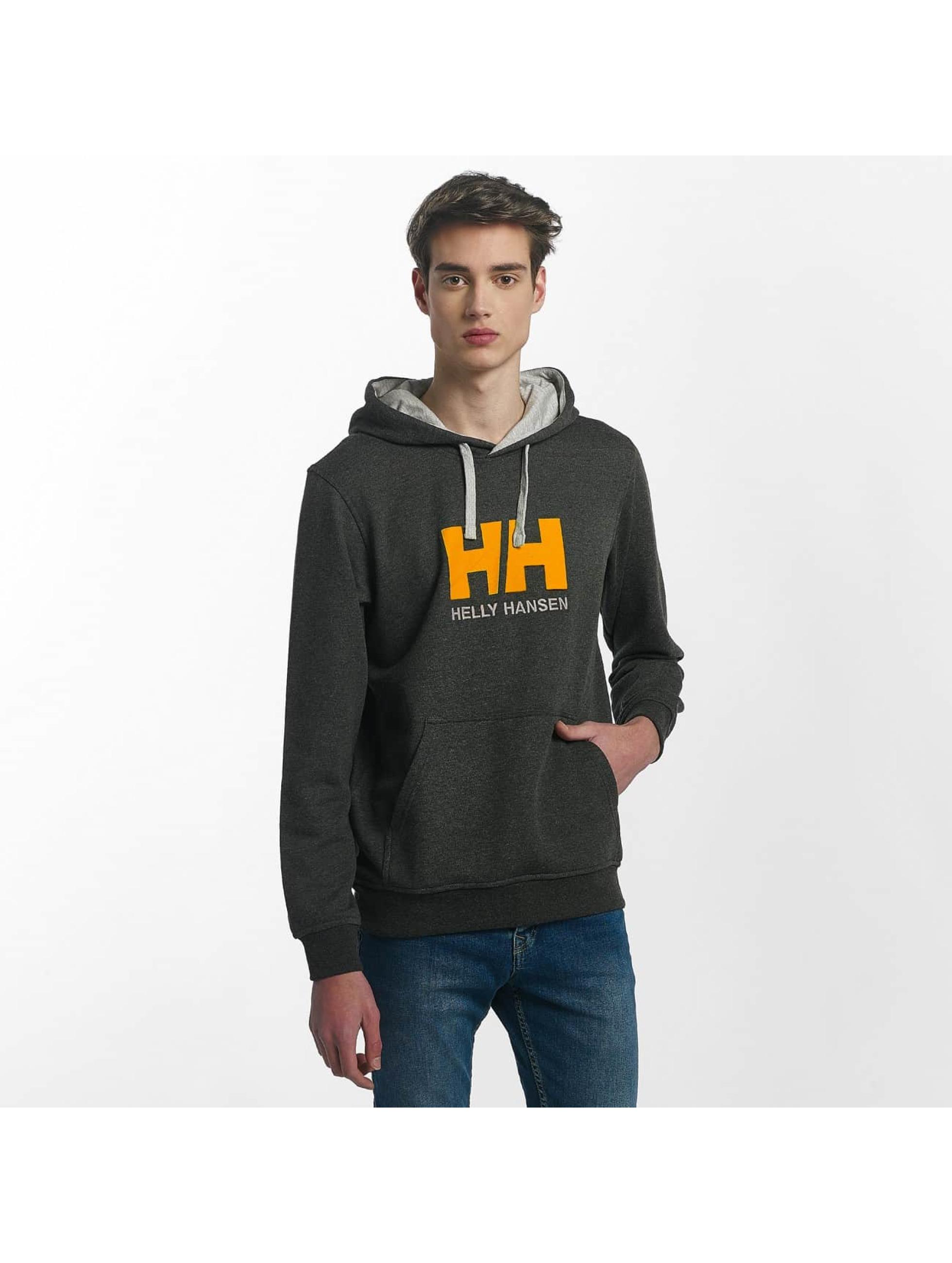 Helly Hansen Hoody Logo grau