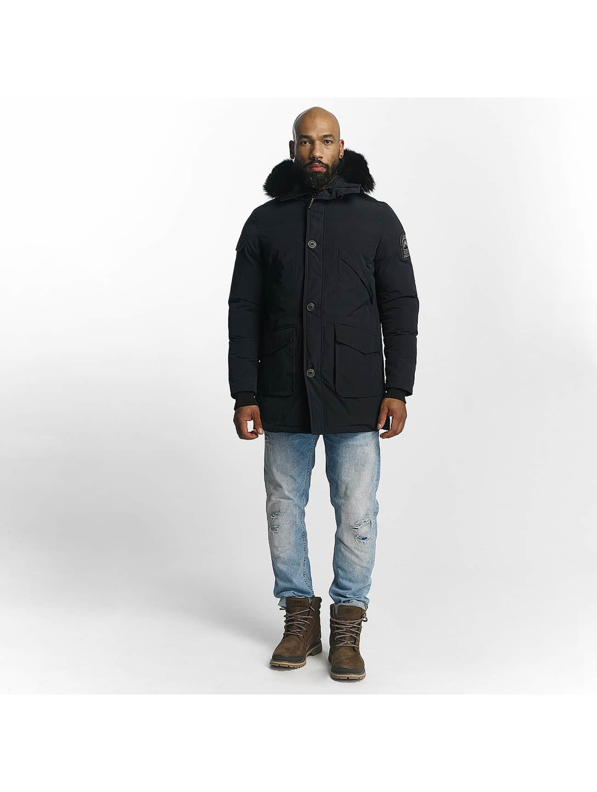 Helvetica Manteau hiver Timber Long Black Edition bleu