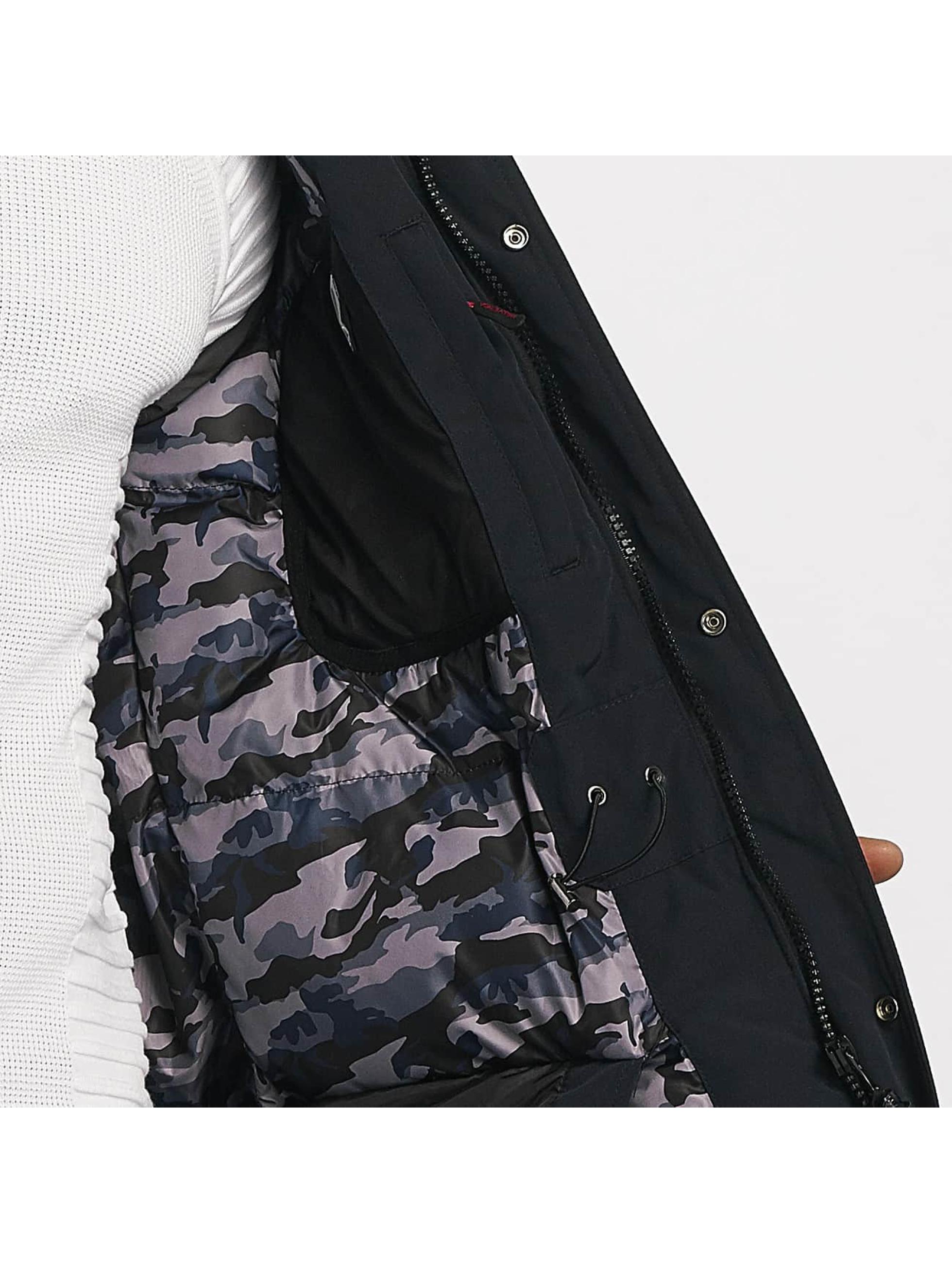 Helvetica Manteau hiver Expedition Black Edition bleu