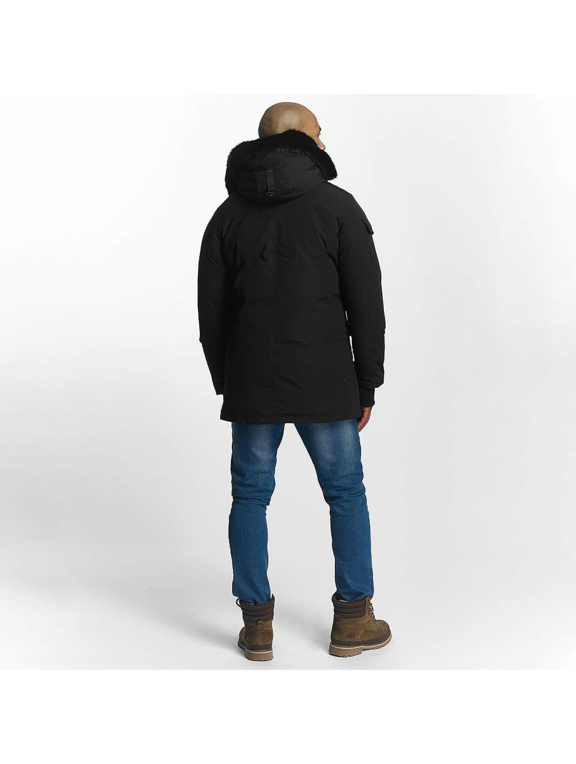 Helvetica Manteau hiver Timber Long Black Edition noir