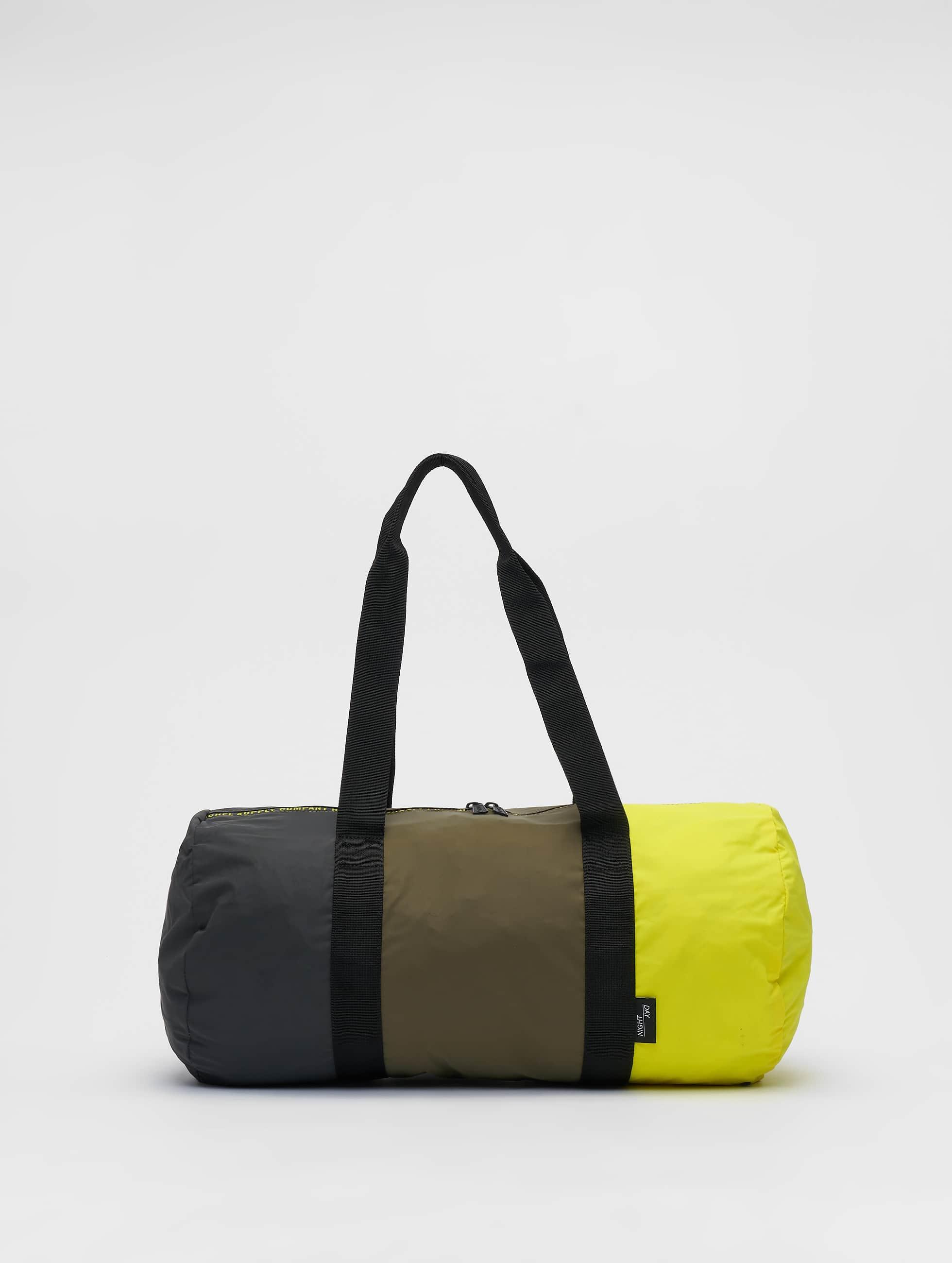 Herschel Packable Duffle Bag Sulfur SpringOlive NightBlack Reflective