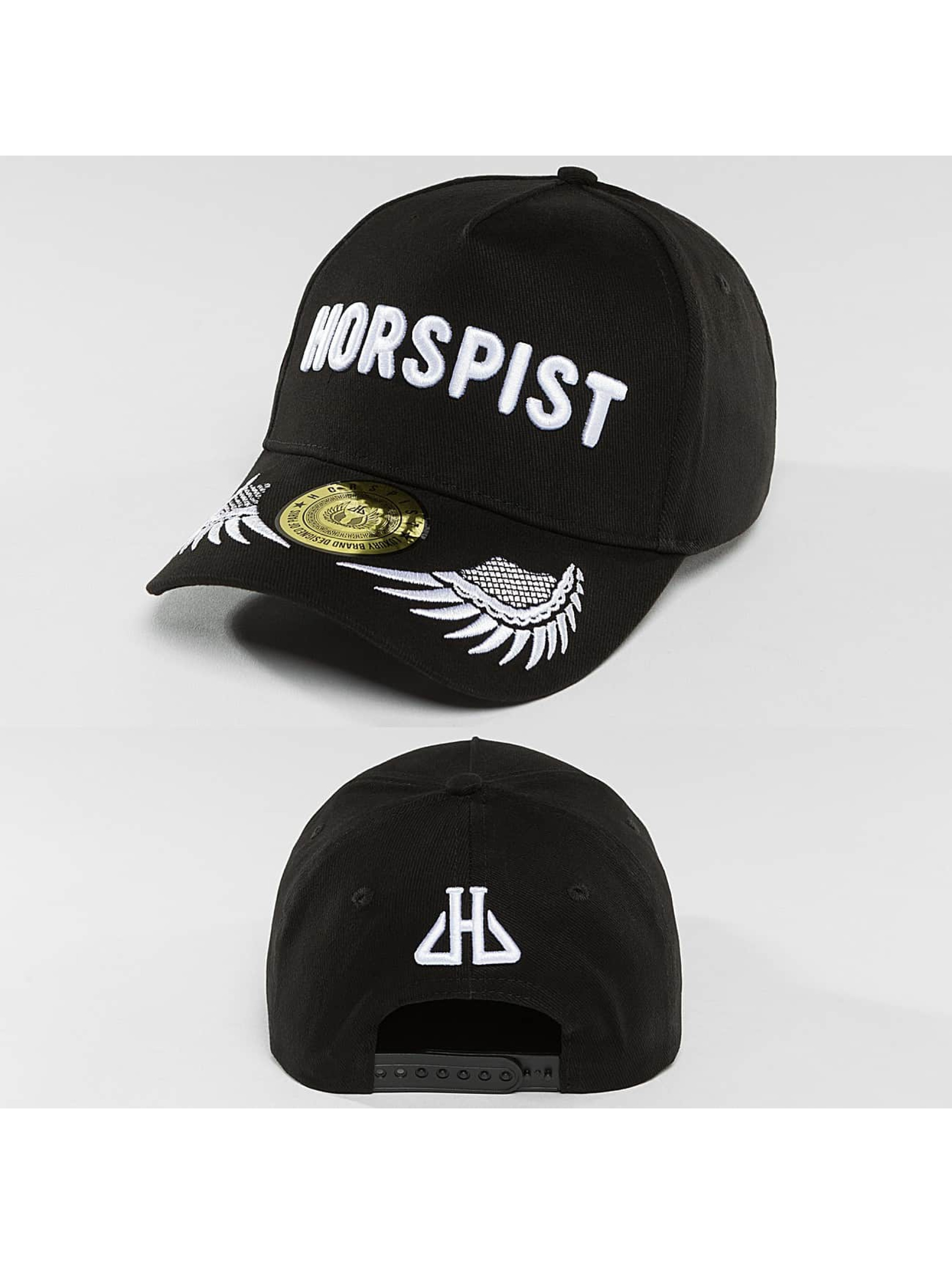 Horspist snapback cap Remenber zwart