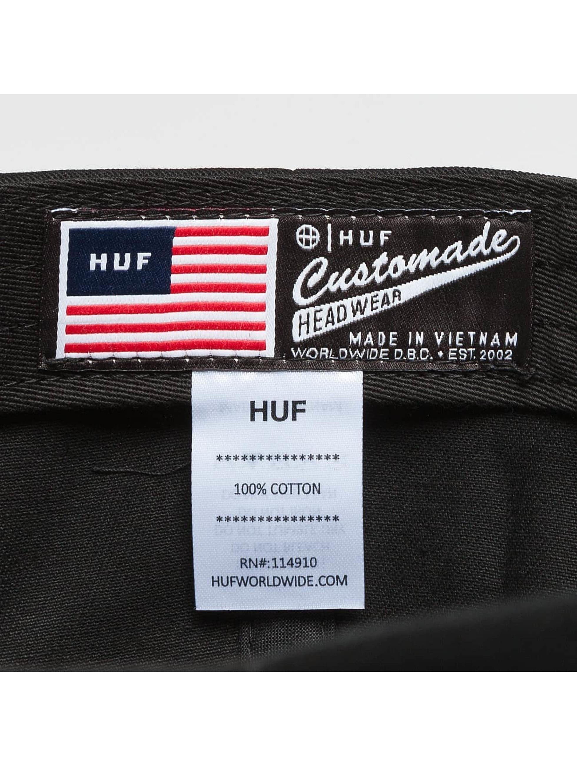 HUF Snapback Script Logo Curve Brim èierna