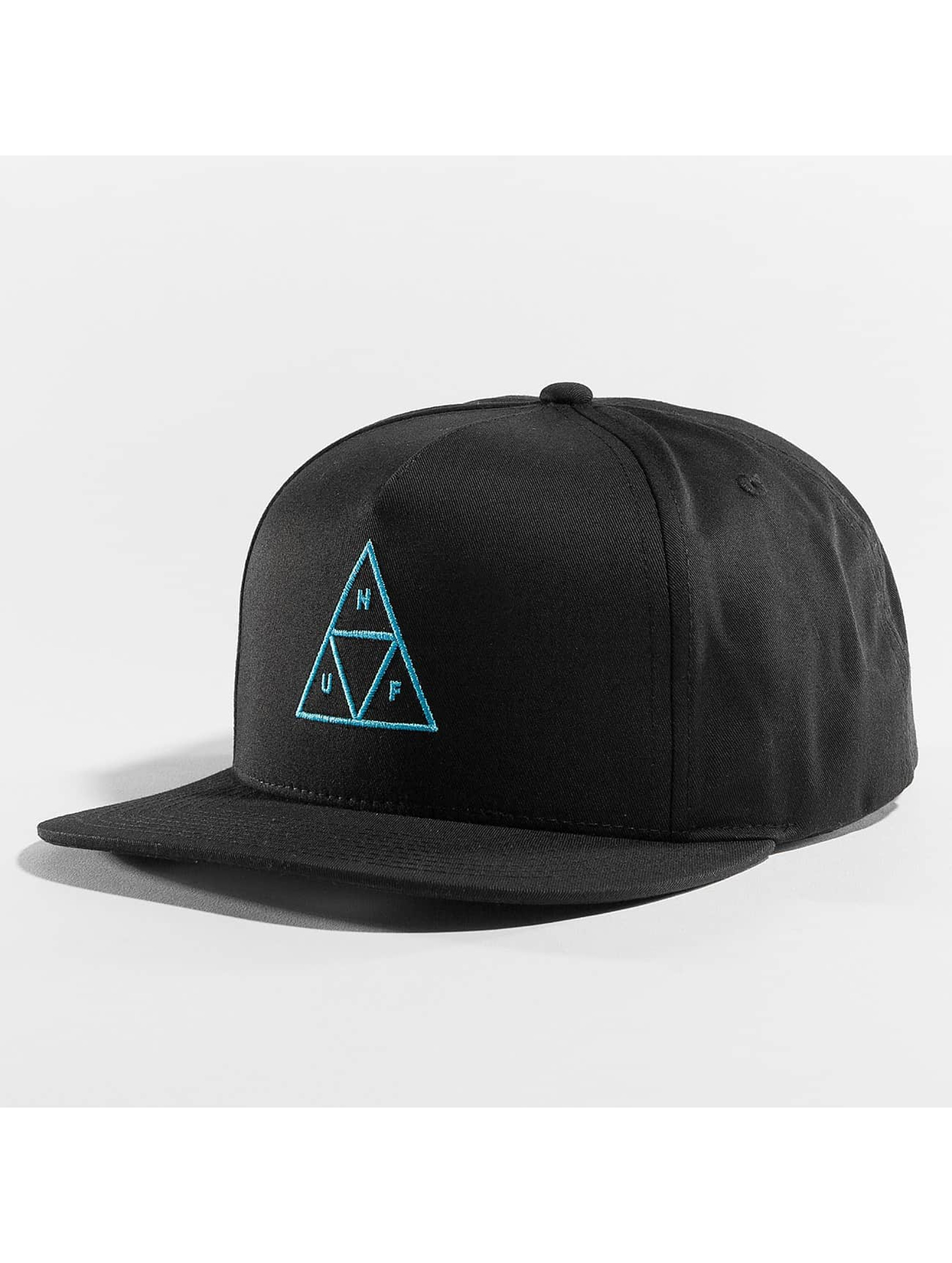 HUF Snapback Caps Triple Triangle svart