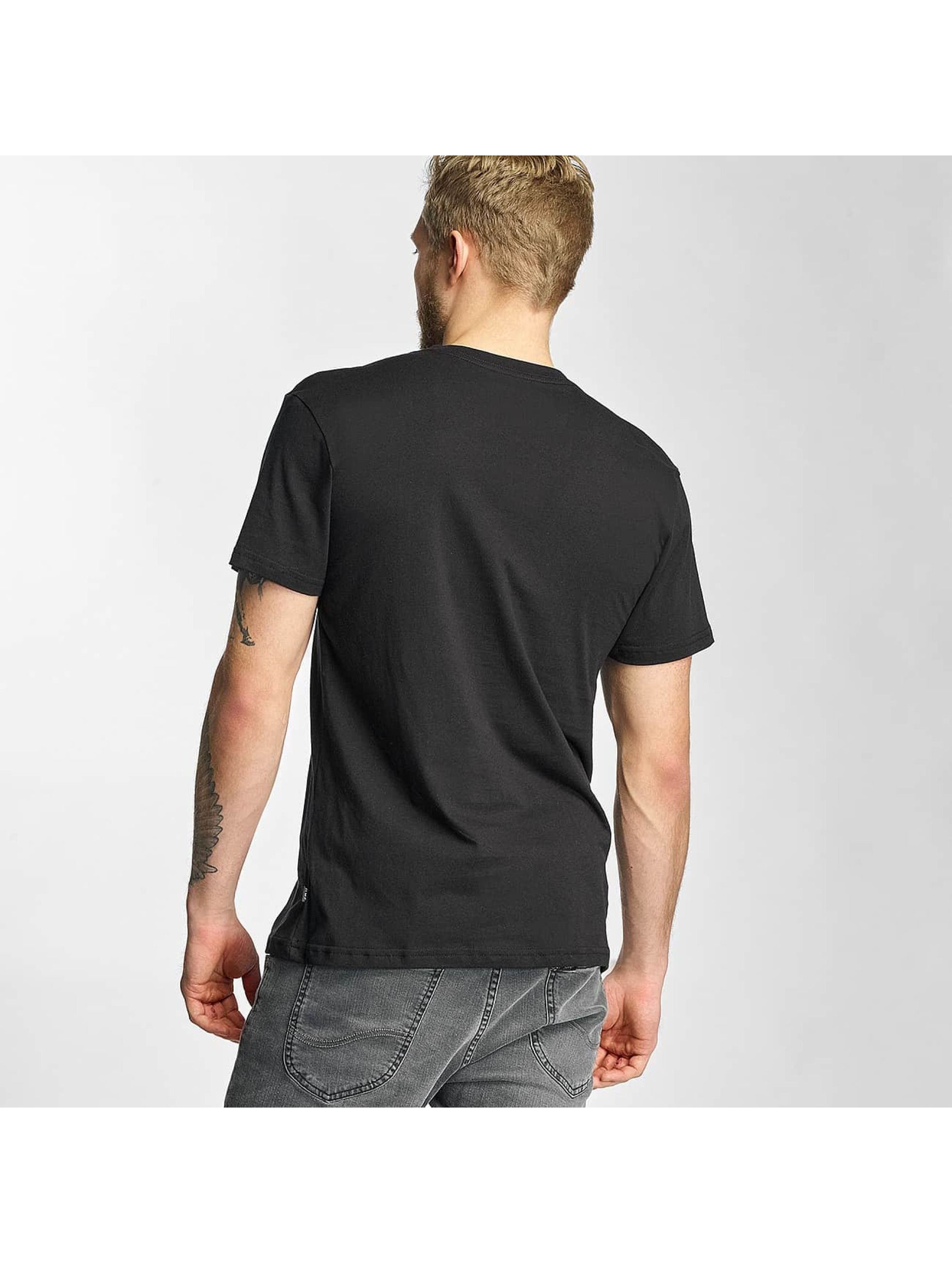 HUF T-Shirt Overdye Bar Logo black