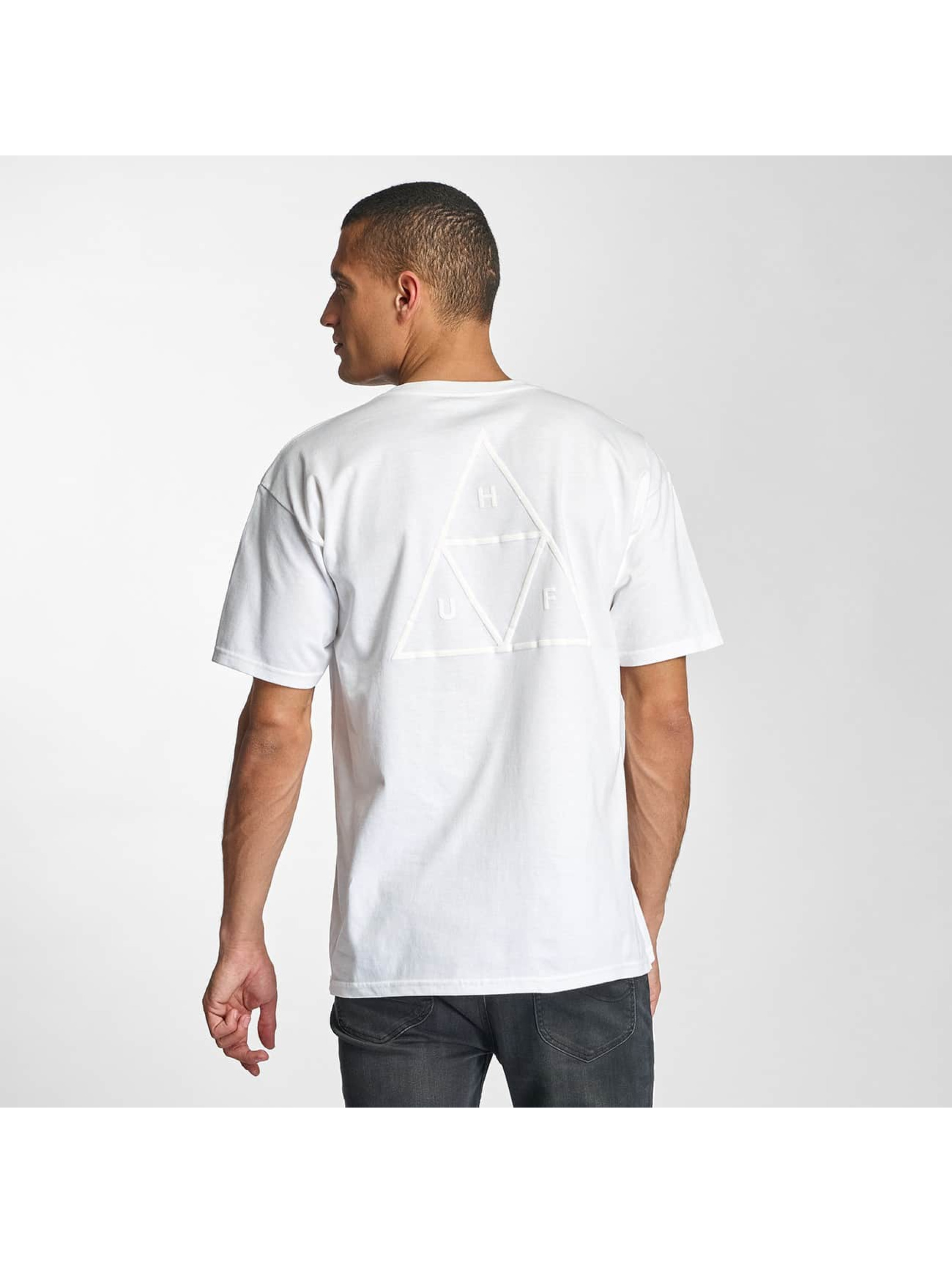 HUF T-Shirt Triple Troangle Pocket white