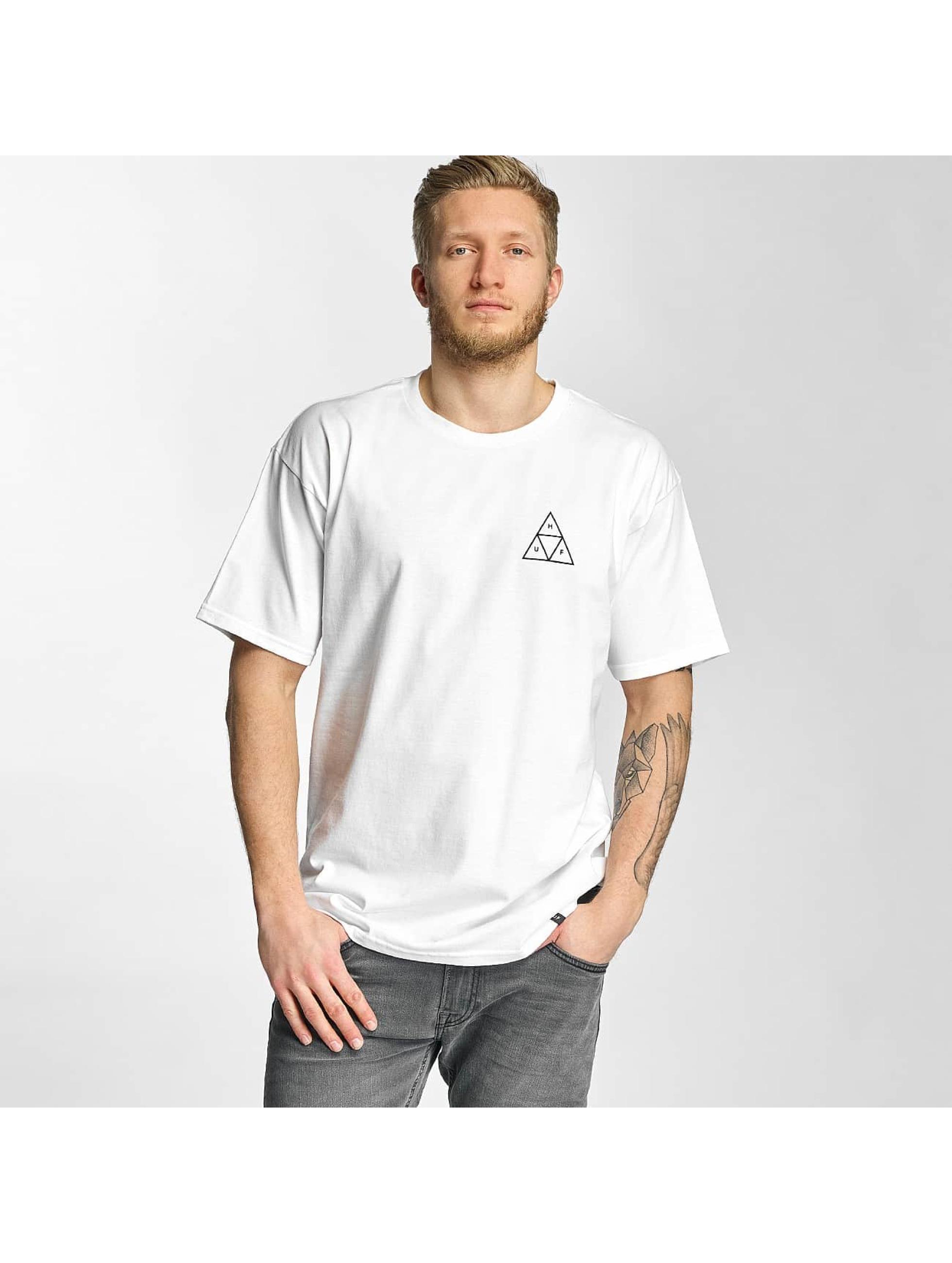 HUF Tričká Triple Triangle biela