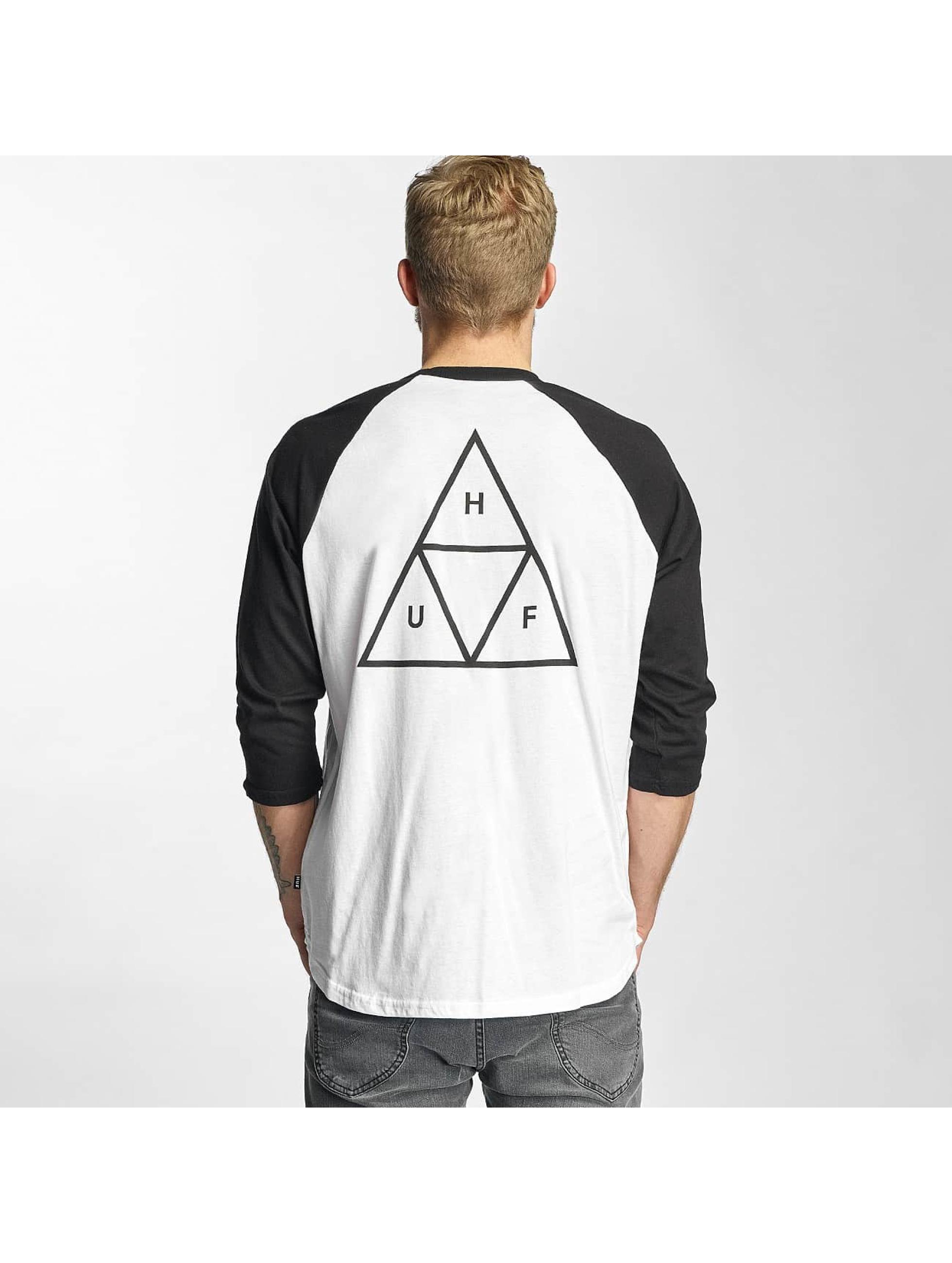 HUF Tričká dlhý rukáv Triple Triangle biela