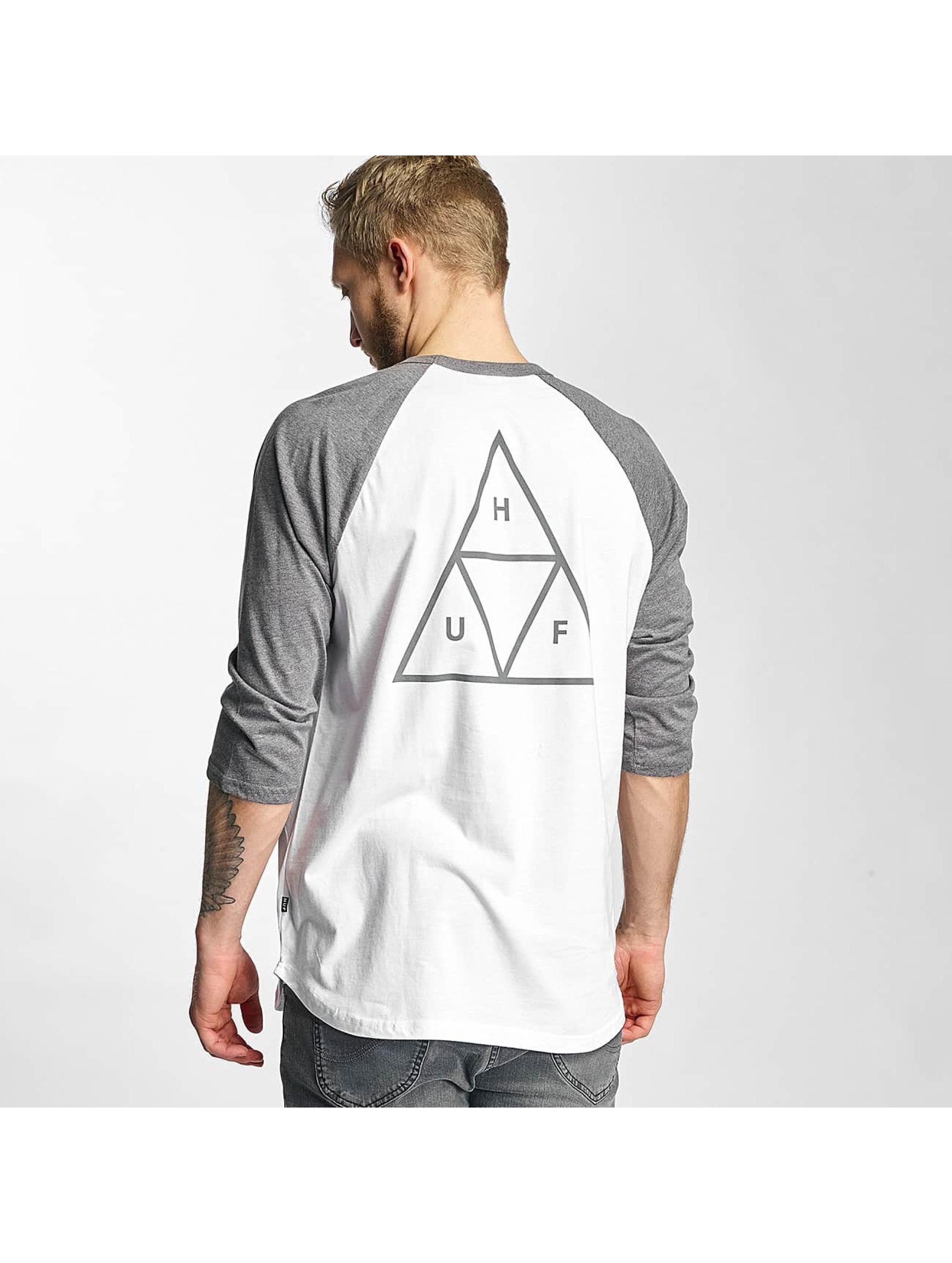 HUF Tričká dlhý rukáv Triple Triangle Raglan biela