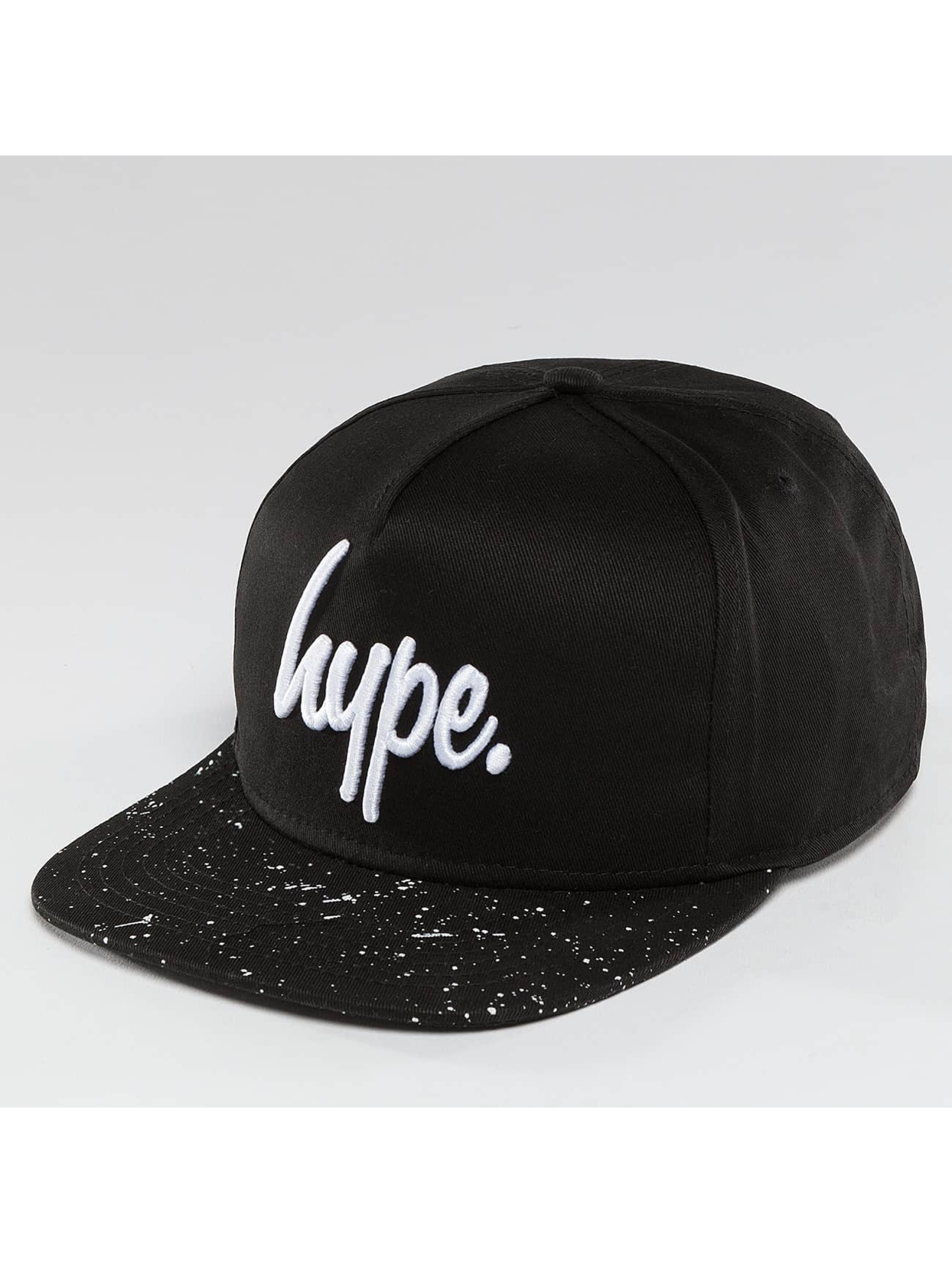 HYPE Snapback Caps Speckle musta