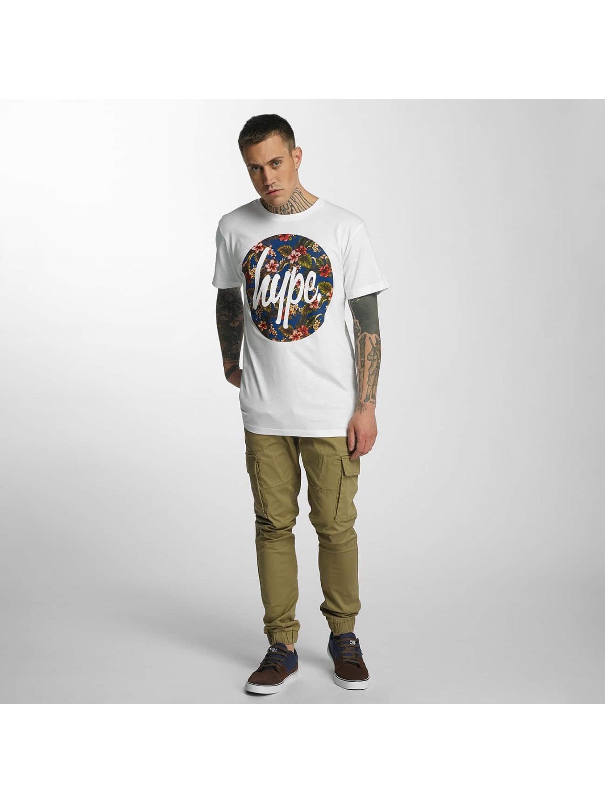 HYPE T-Shirt Flower Circle weiß