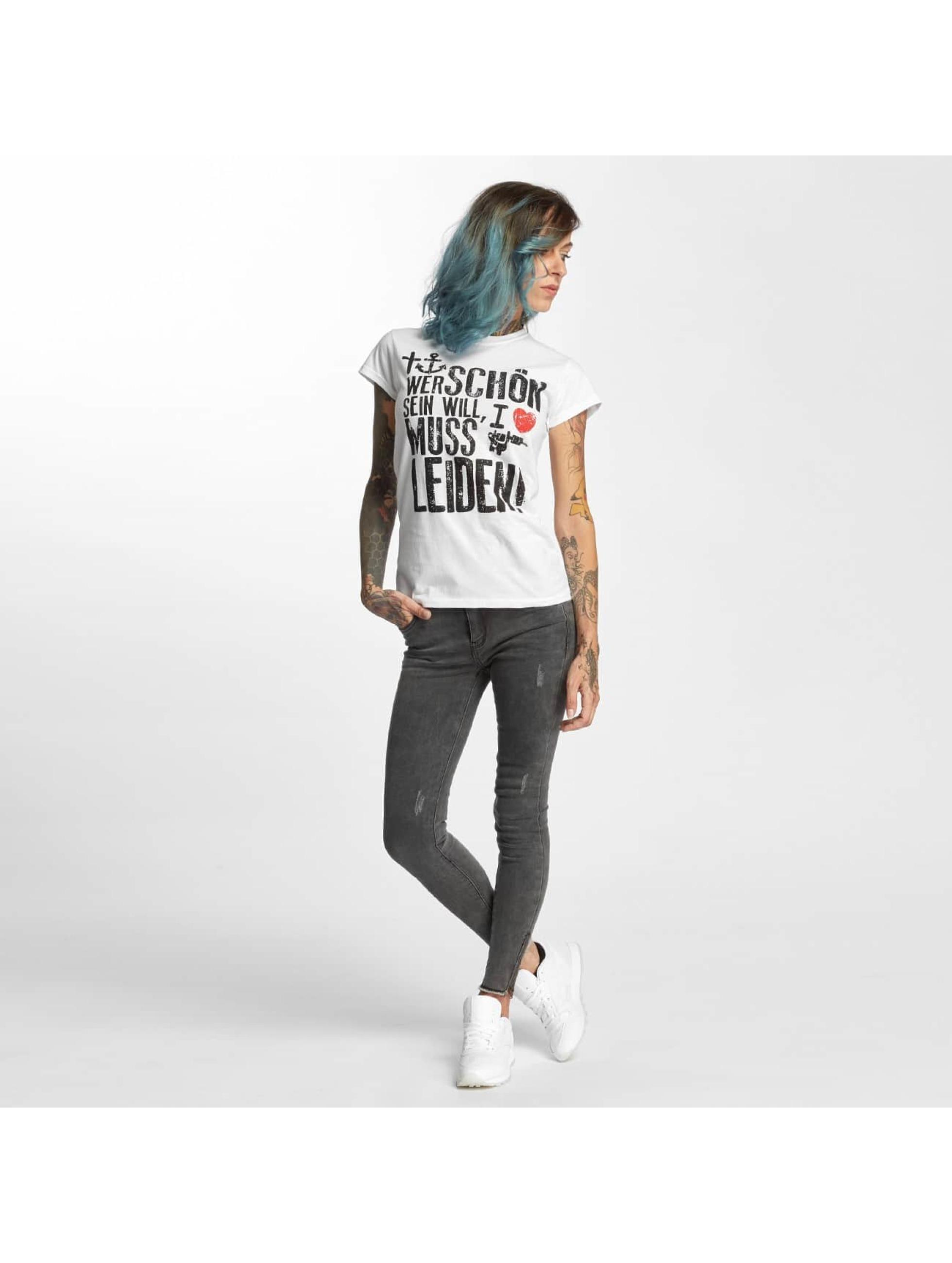 I Love Tattoo T-shirt WSSWML bianco