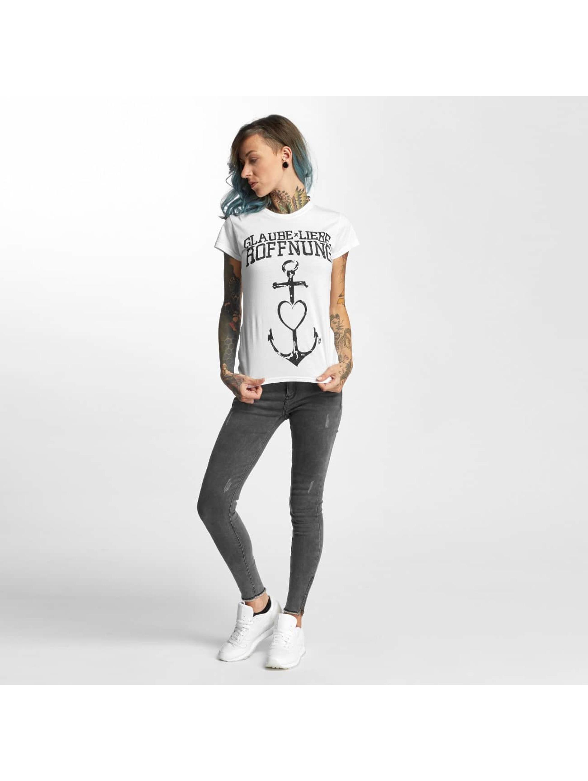 I Love Tattoo T-Shirt Anker white
