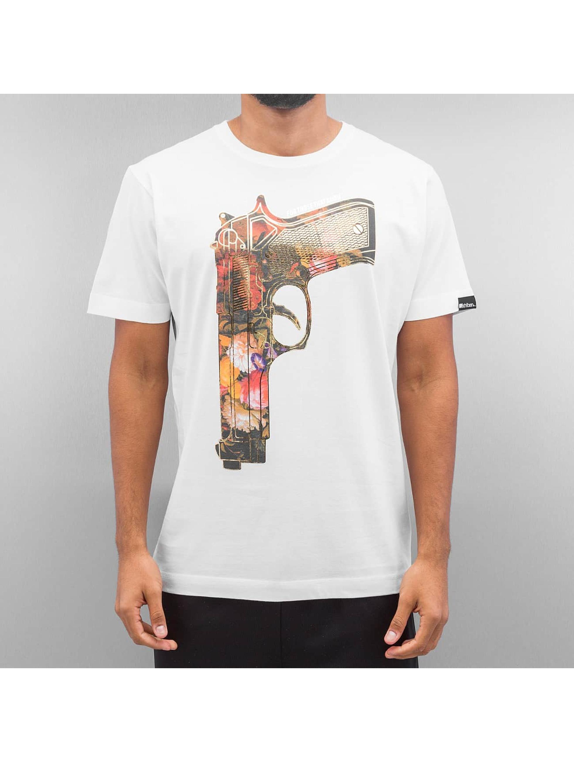 Ichiban T-paidat Floral Gun valkoinen