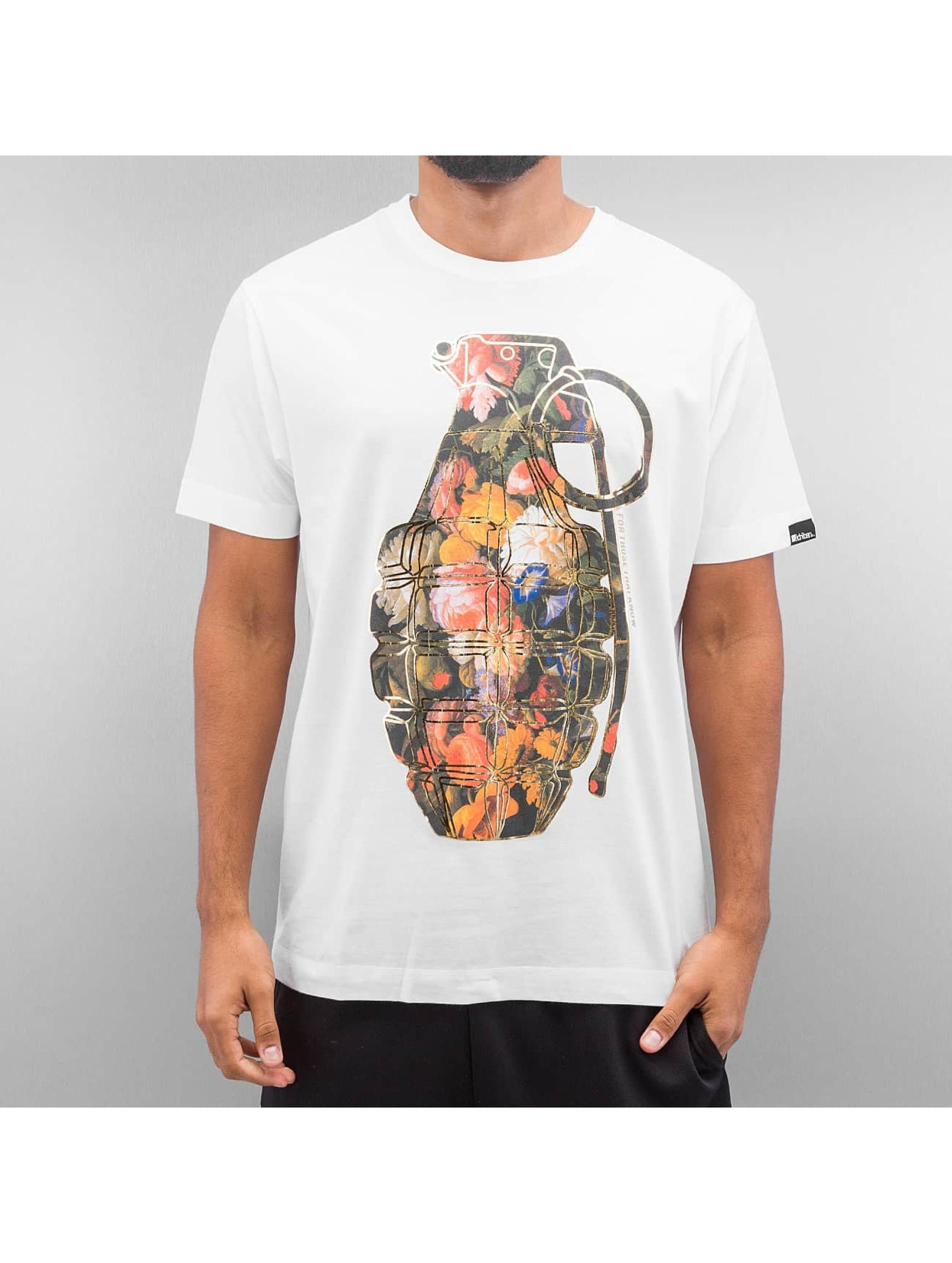Ichiban T-skjorter Floral Granade hvit