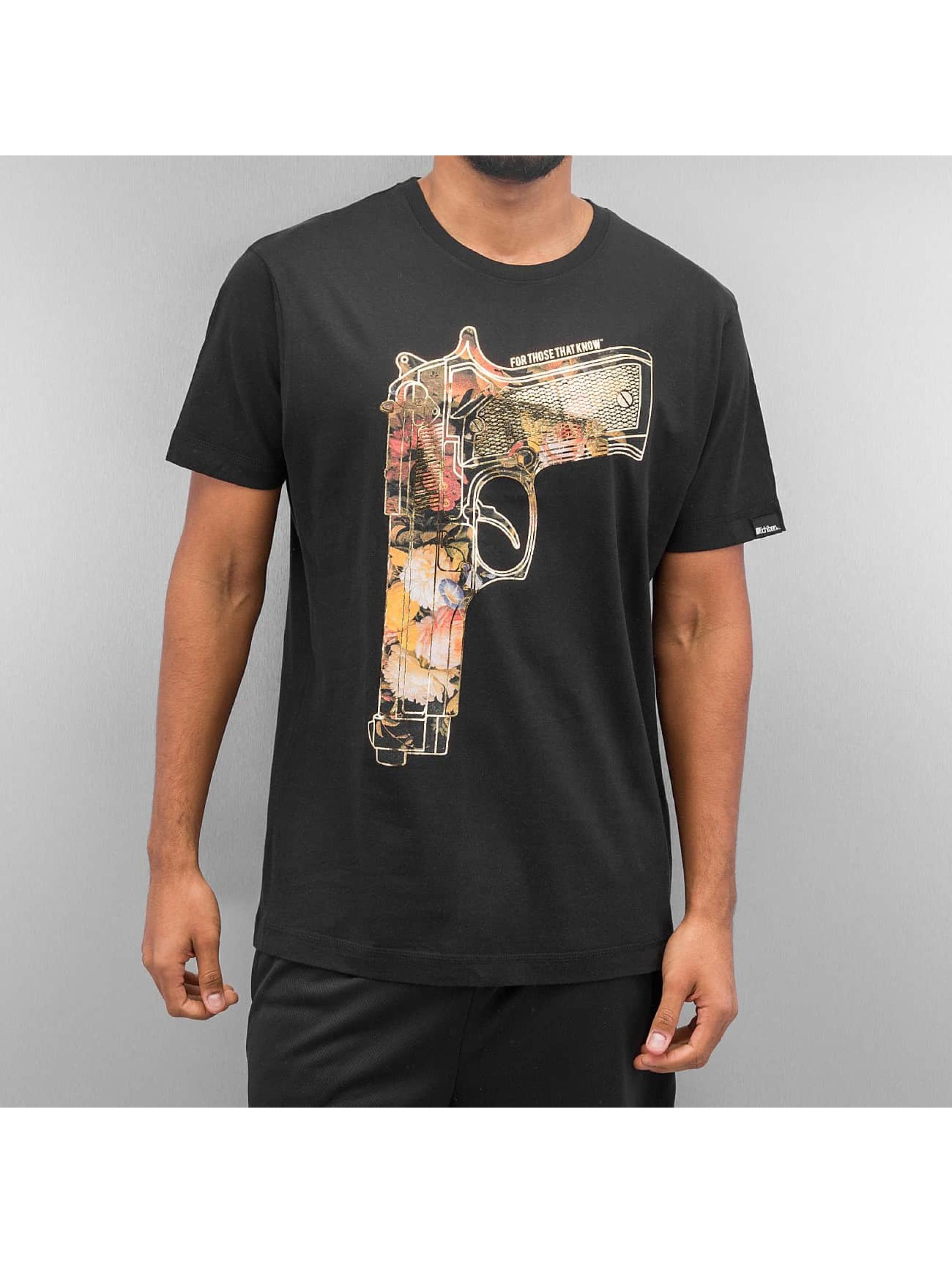 Ichiban T-skjorter Floral Gun svart