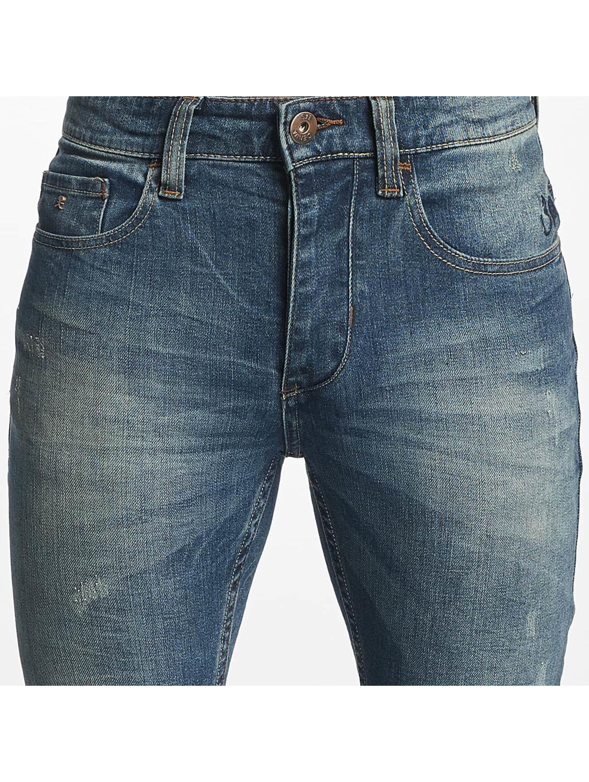 ID Denim dżinsy przylegające Manoa niebieski