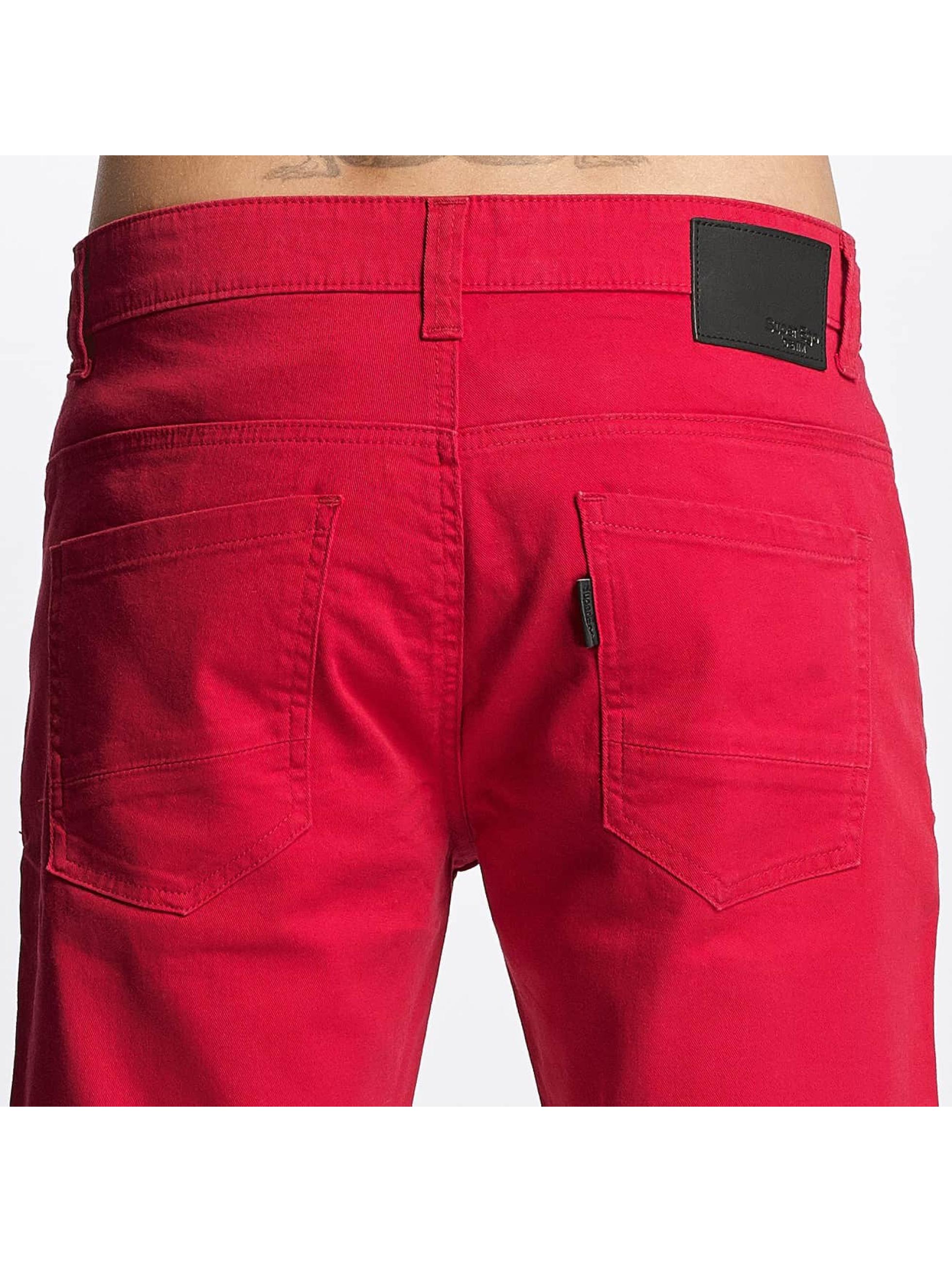 ID Denim Shortsit Twill punainen