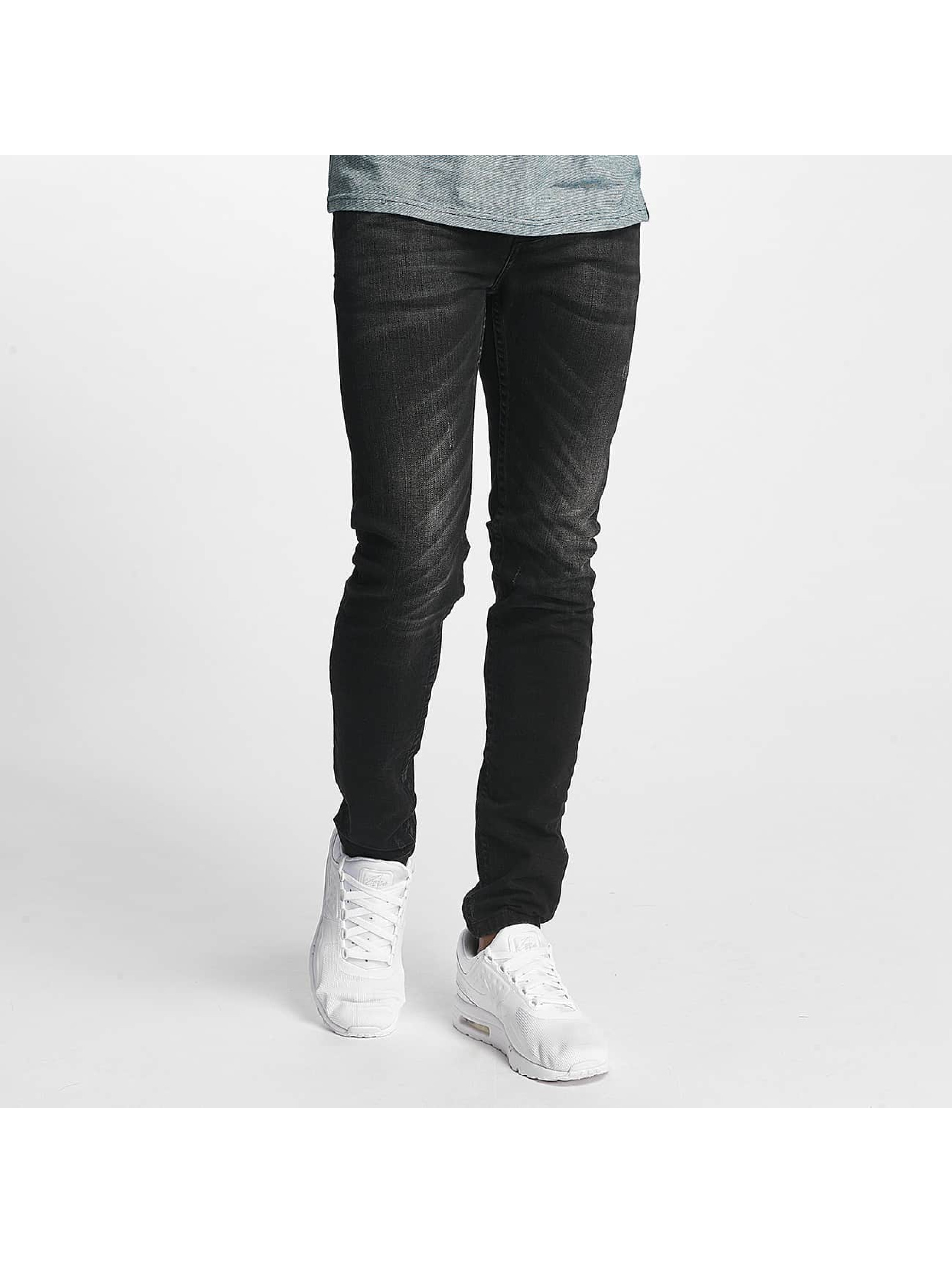 ID Denim Slim Fit Jeans Kula schwarz