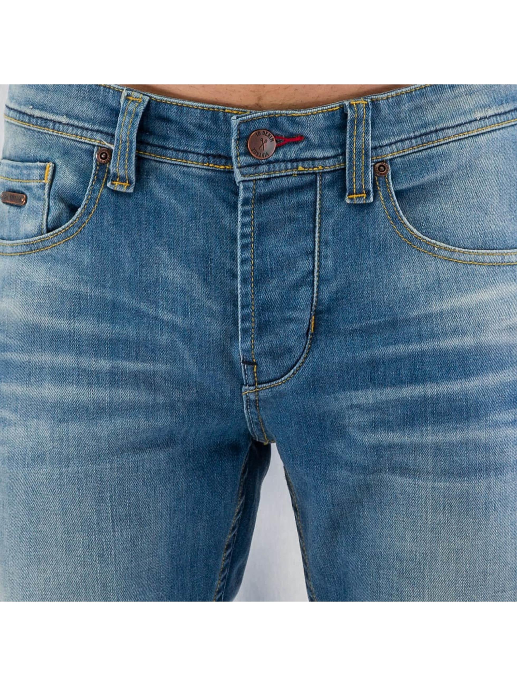 ID Denim Straight Fit Jeans Zack blå