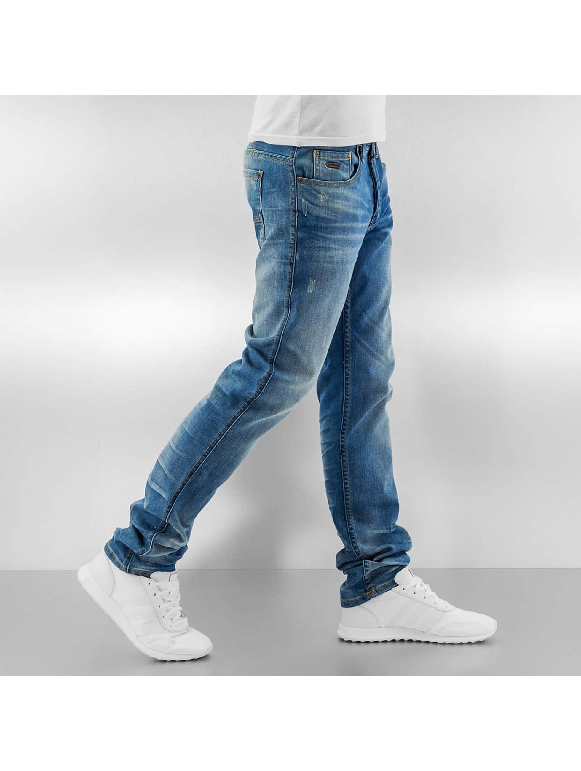 ID Denim Straight Fit Jeans Zack blau