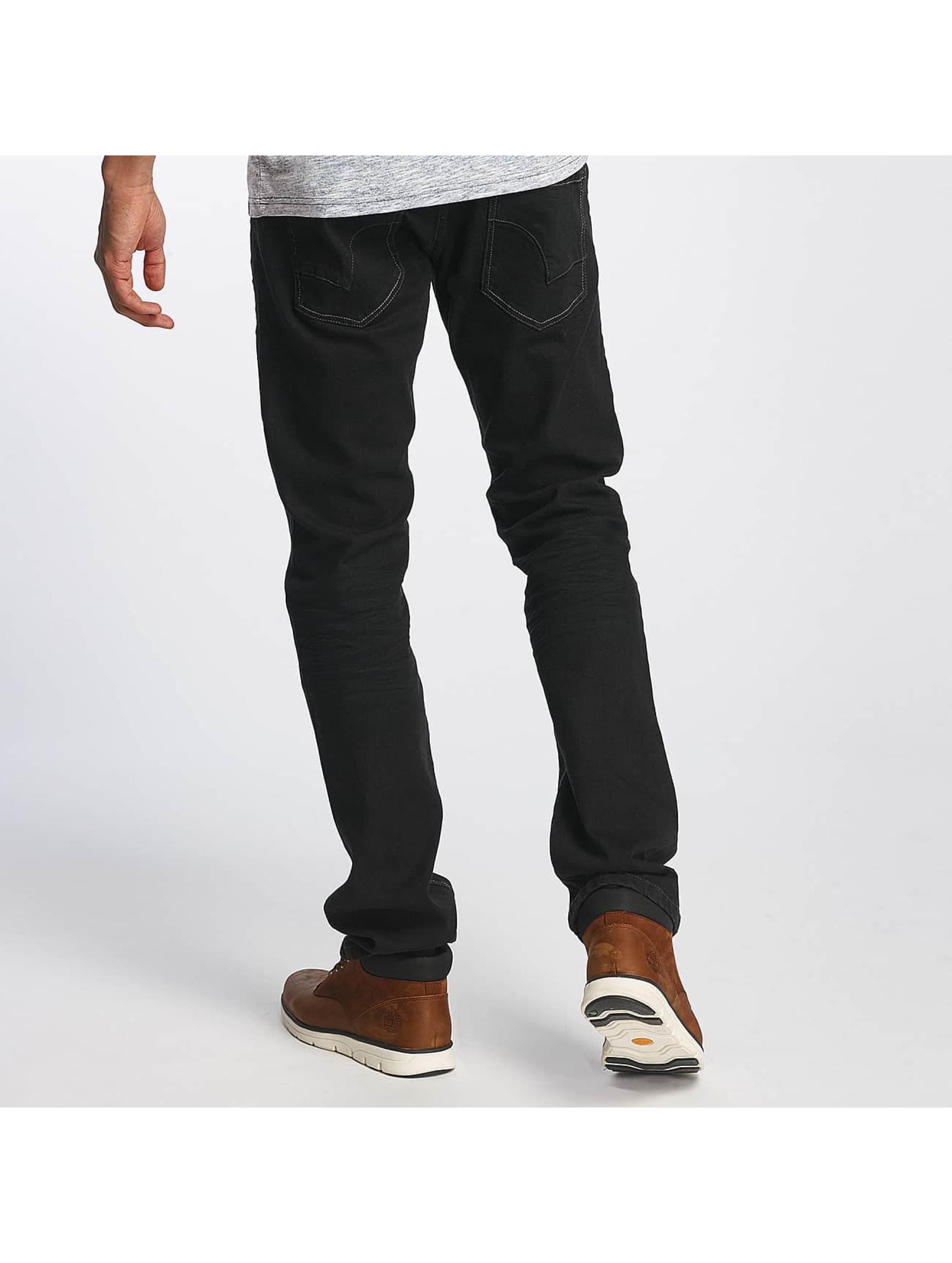 ID Denim Straight fit jeans Basic zwart