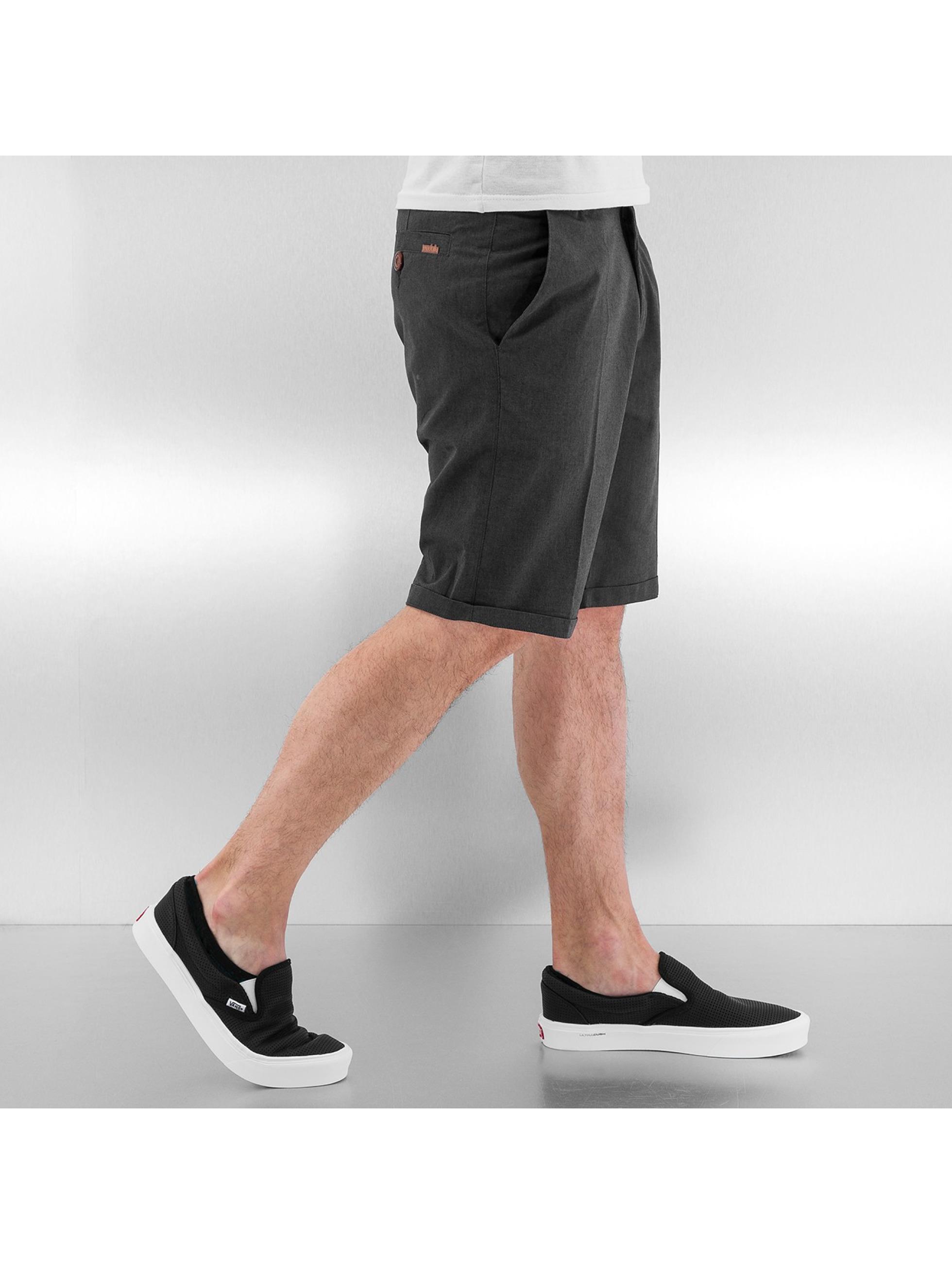 Iriedaily Shorts Golfer Chambray Chino grau