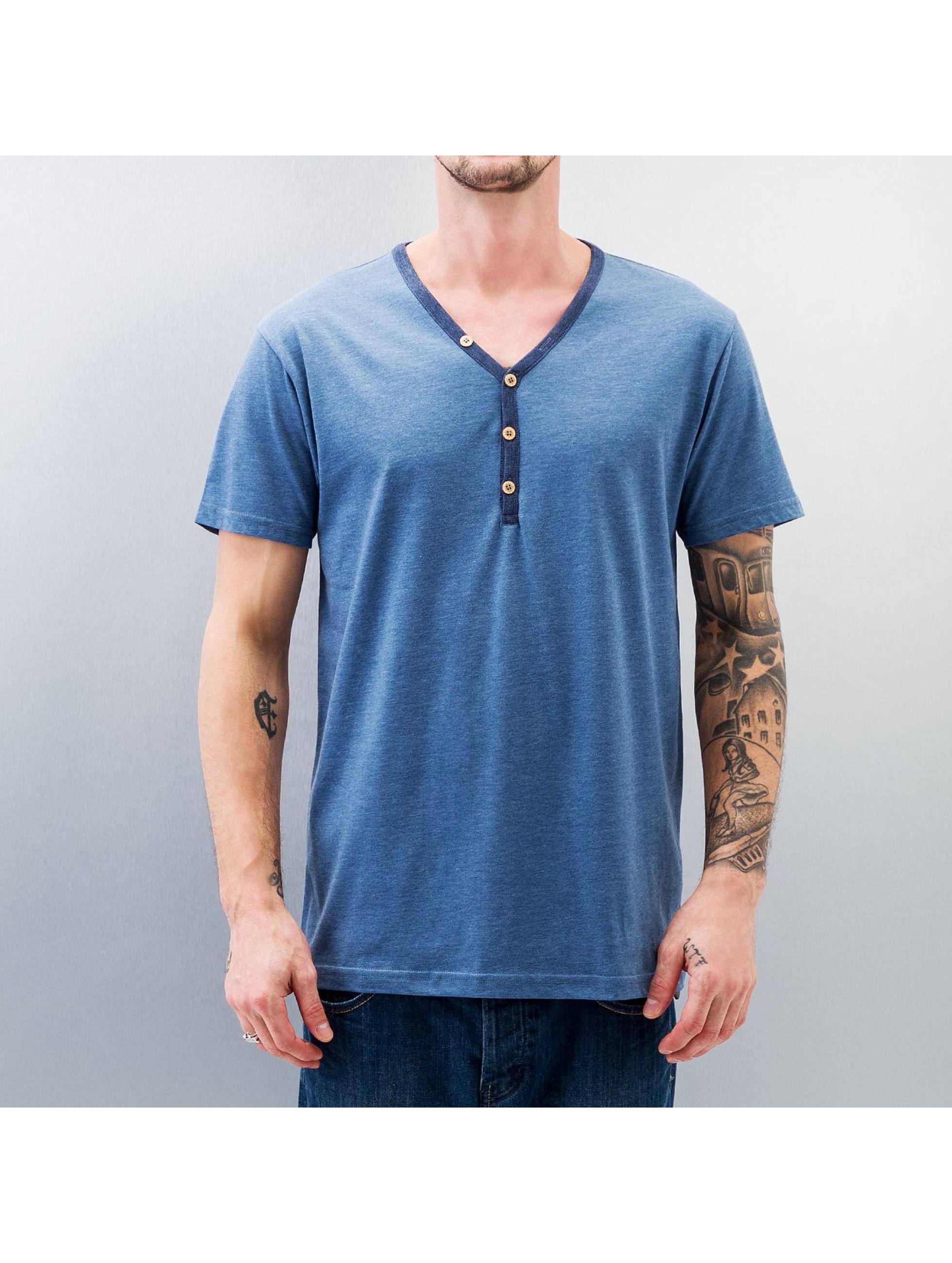 Iriedaily T-Shirt Clerk Contrast blau