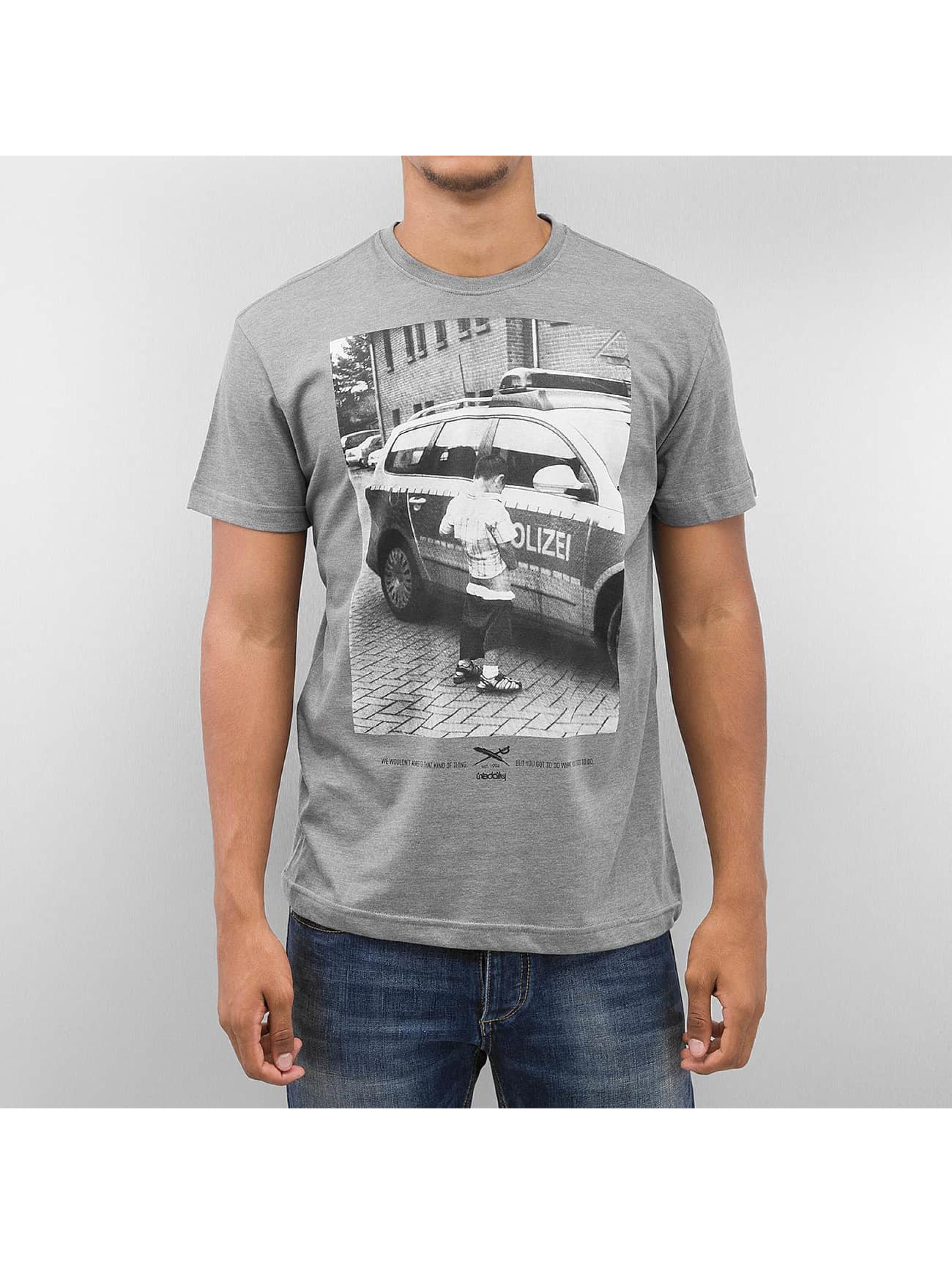Iriedaily T-Shirt Pissizei grau