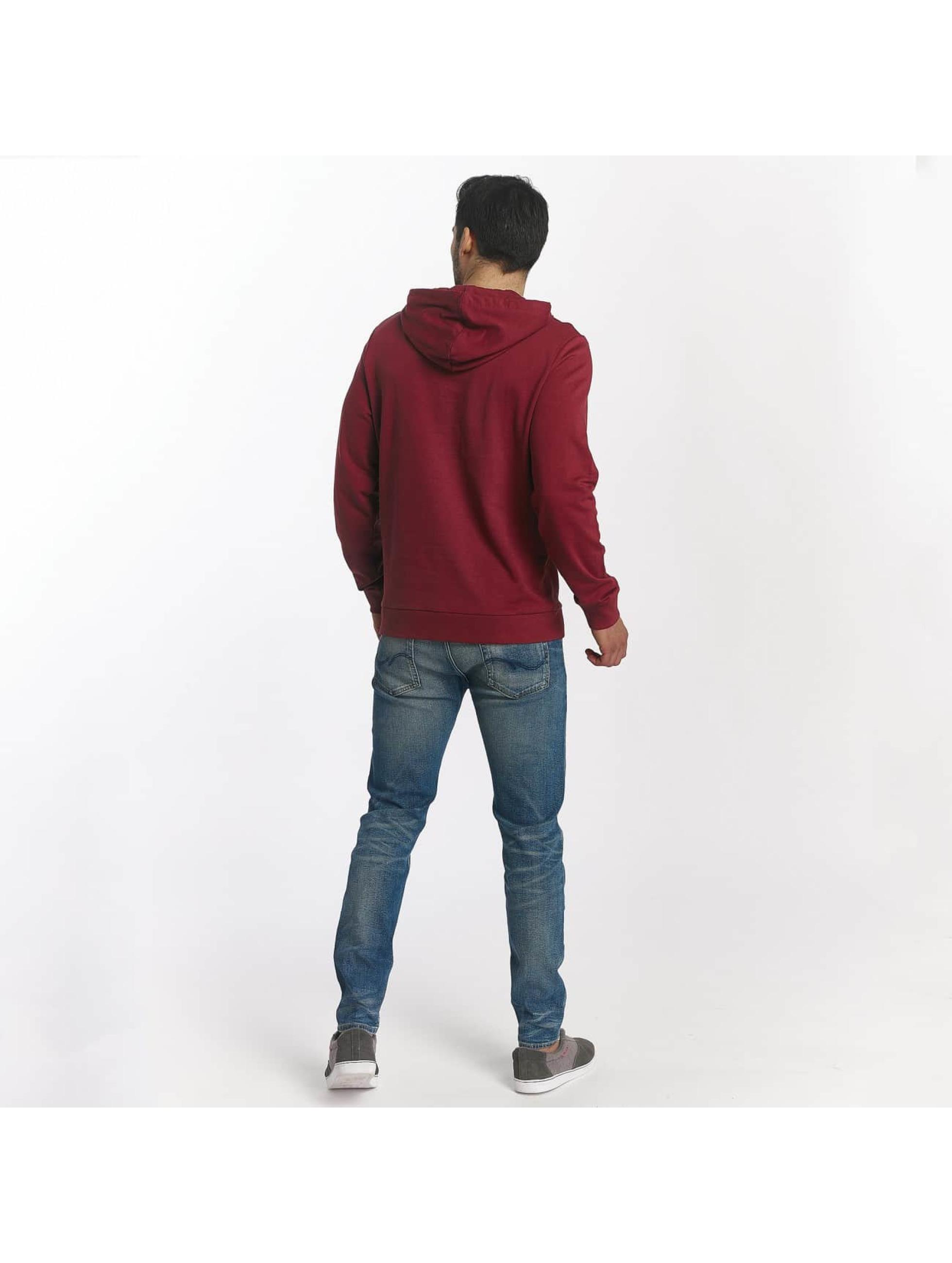 Jack & Jones Bluzy z kapturem jorSlack czerwony