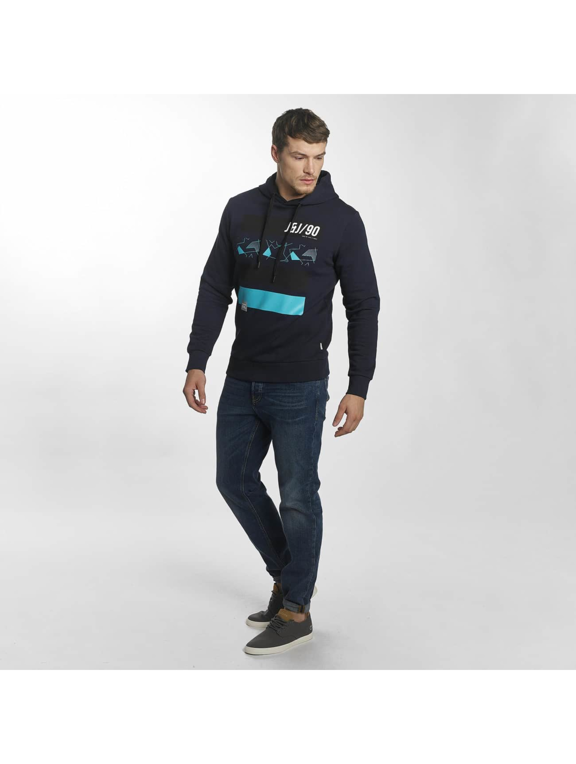 Jack & Jones Bluzy z kapturem jcoMate niebieski