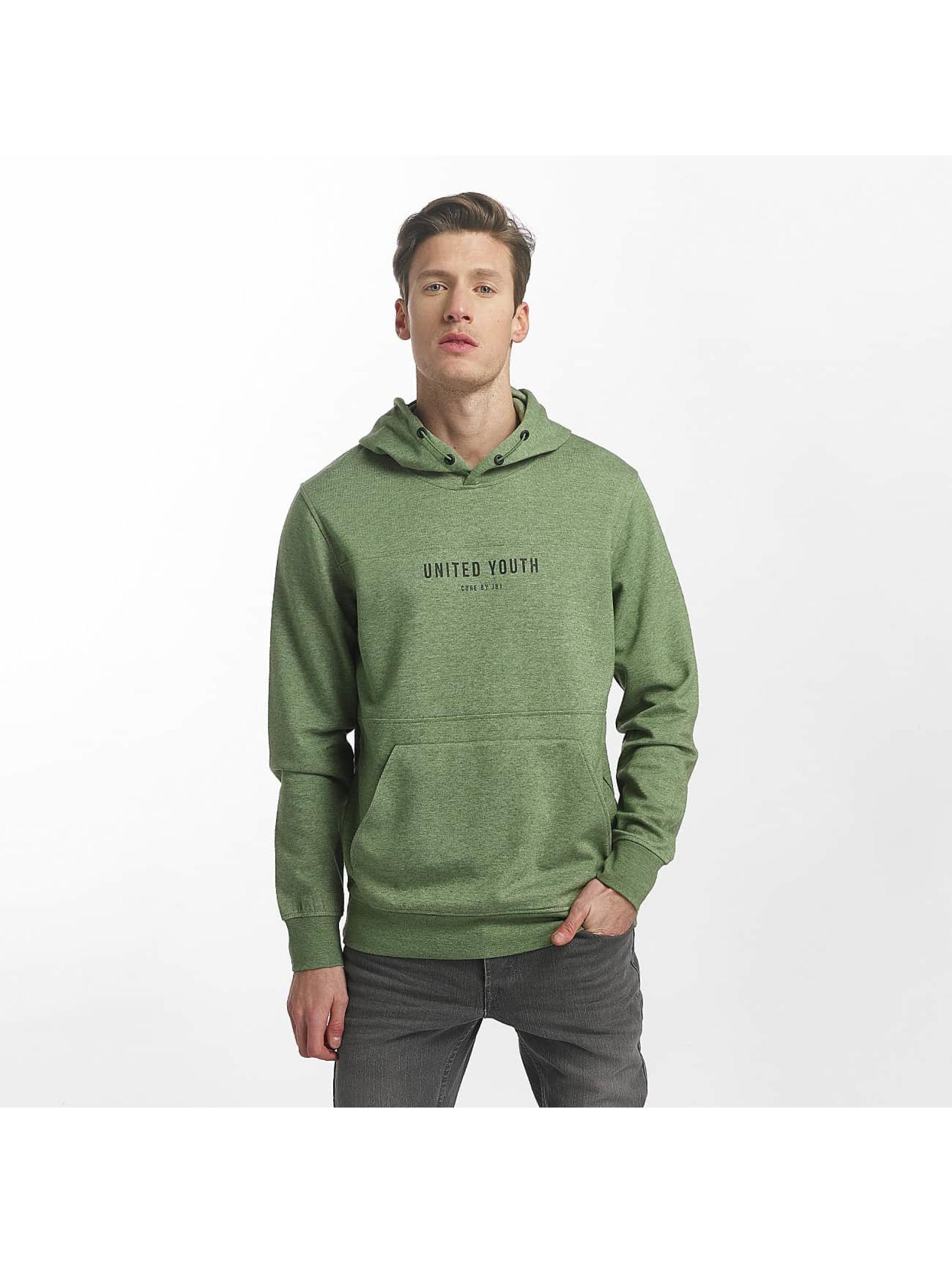 Jack & Jones Bluzy z kapturem jcoMack zielony