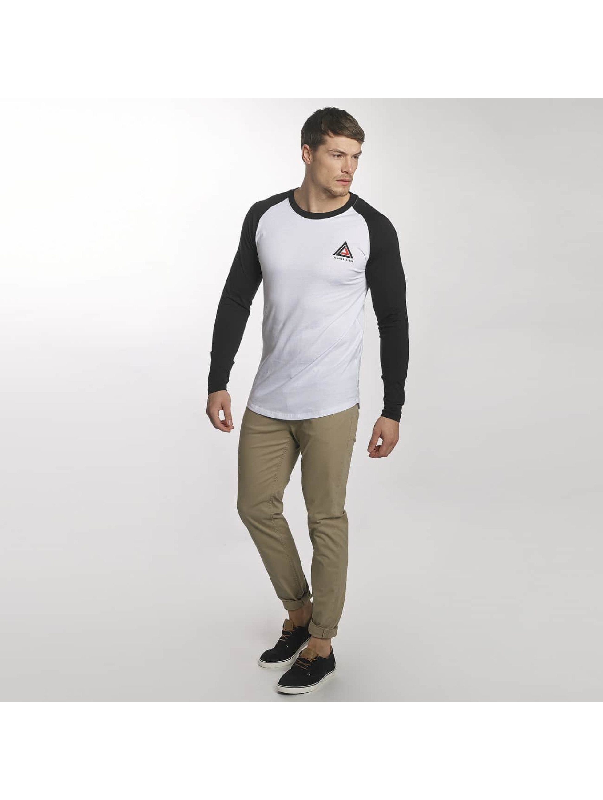Jack & Jones Camiseta de manga larga jcoBuddy blanco