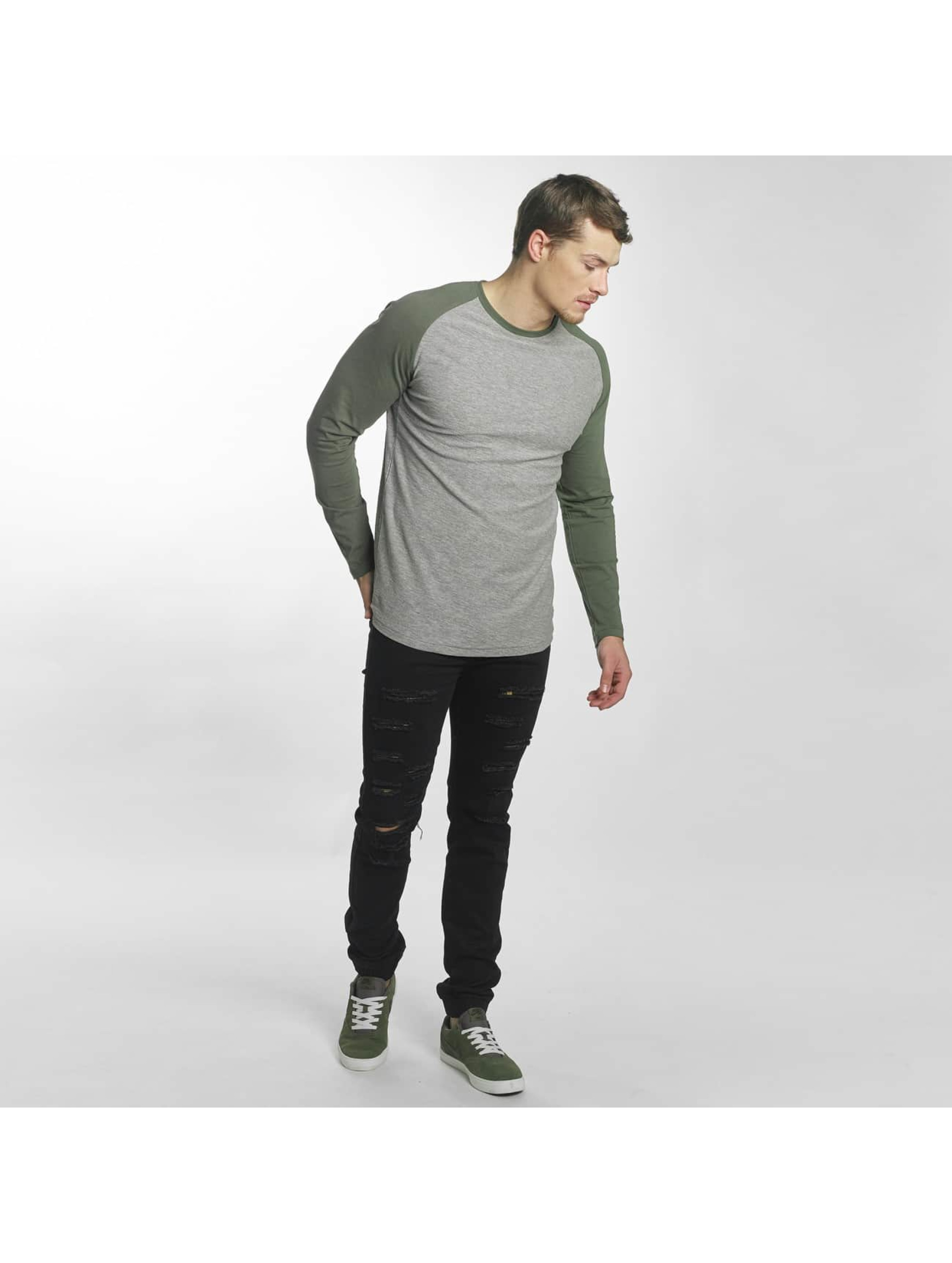 Jack & Jones Camiseta de manga larga jorNew gris