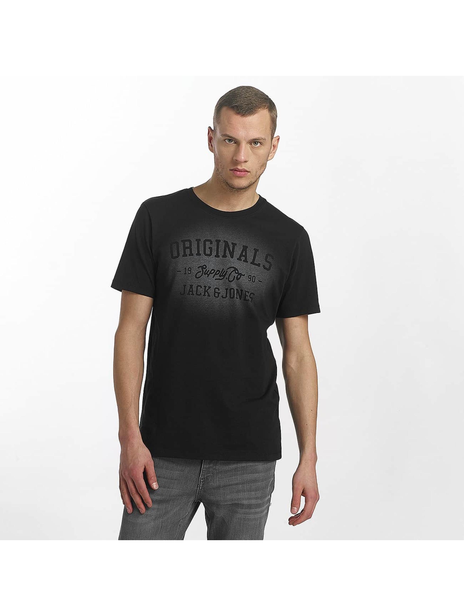 Jack & Jones Camiseta jorStencild negro