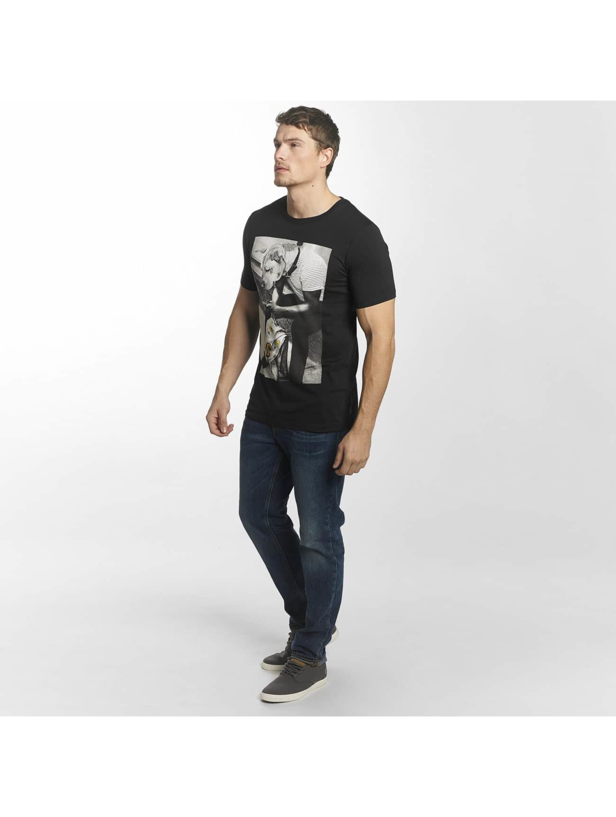 Jack & Jones Camiseta jorHearty negro