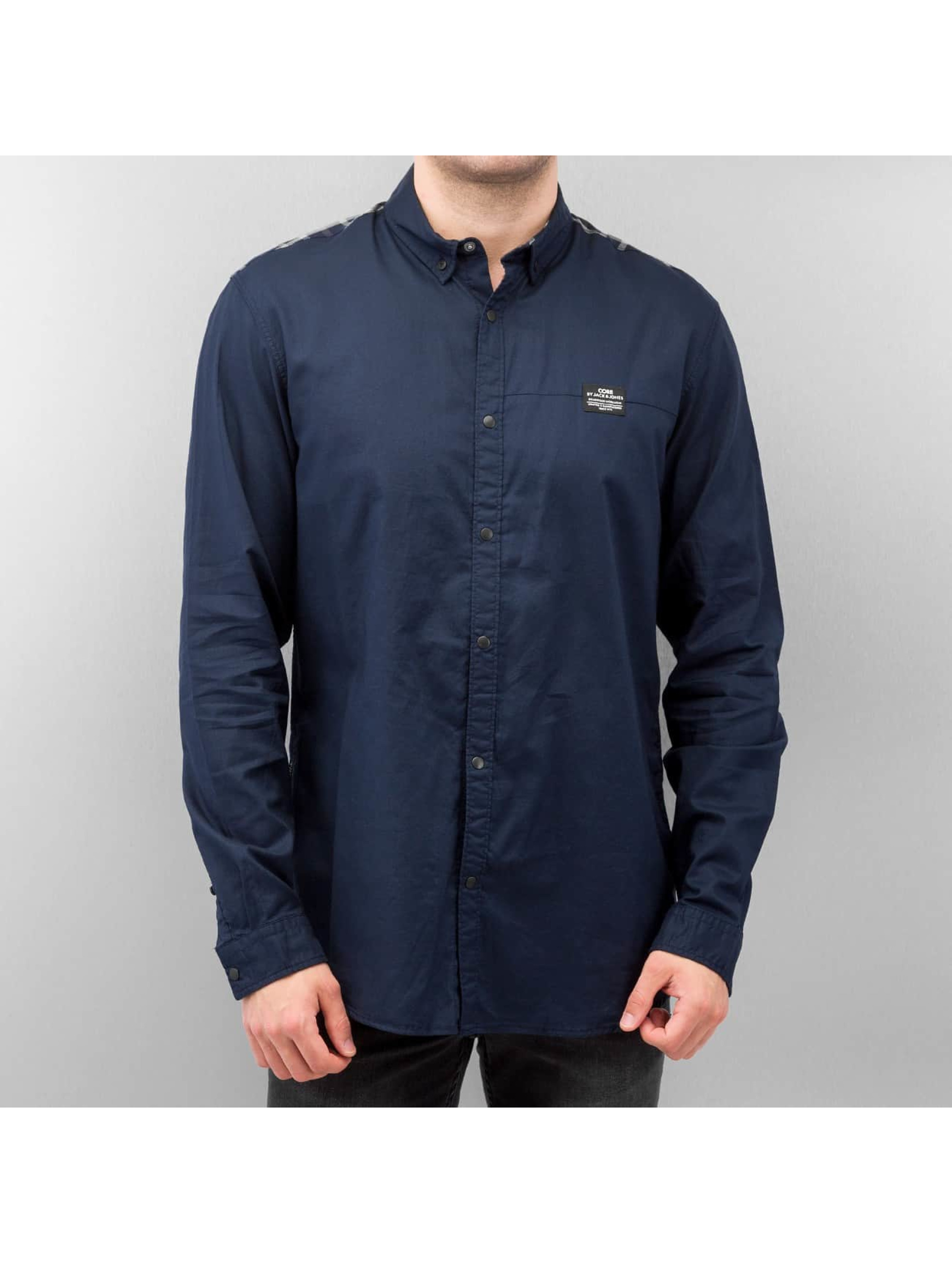 Jack & Jones Hemd Victor Plain blau