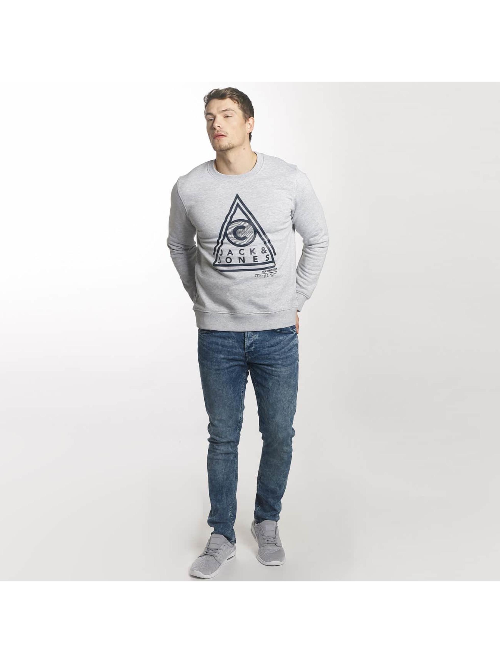 Jack & Jones Pullover jcoGeometric gray