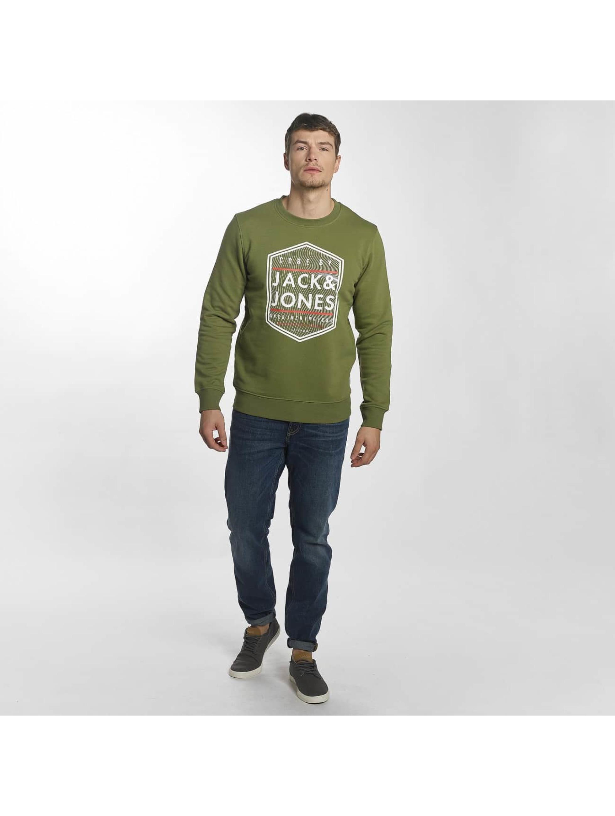 Jack & Jones Pulóvre jcoGeometric zelená