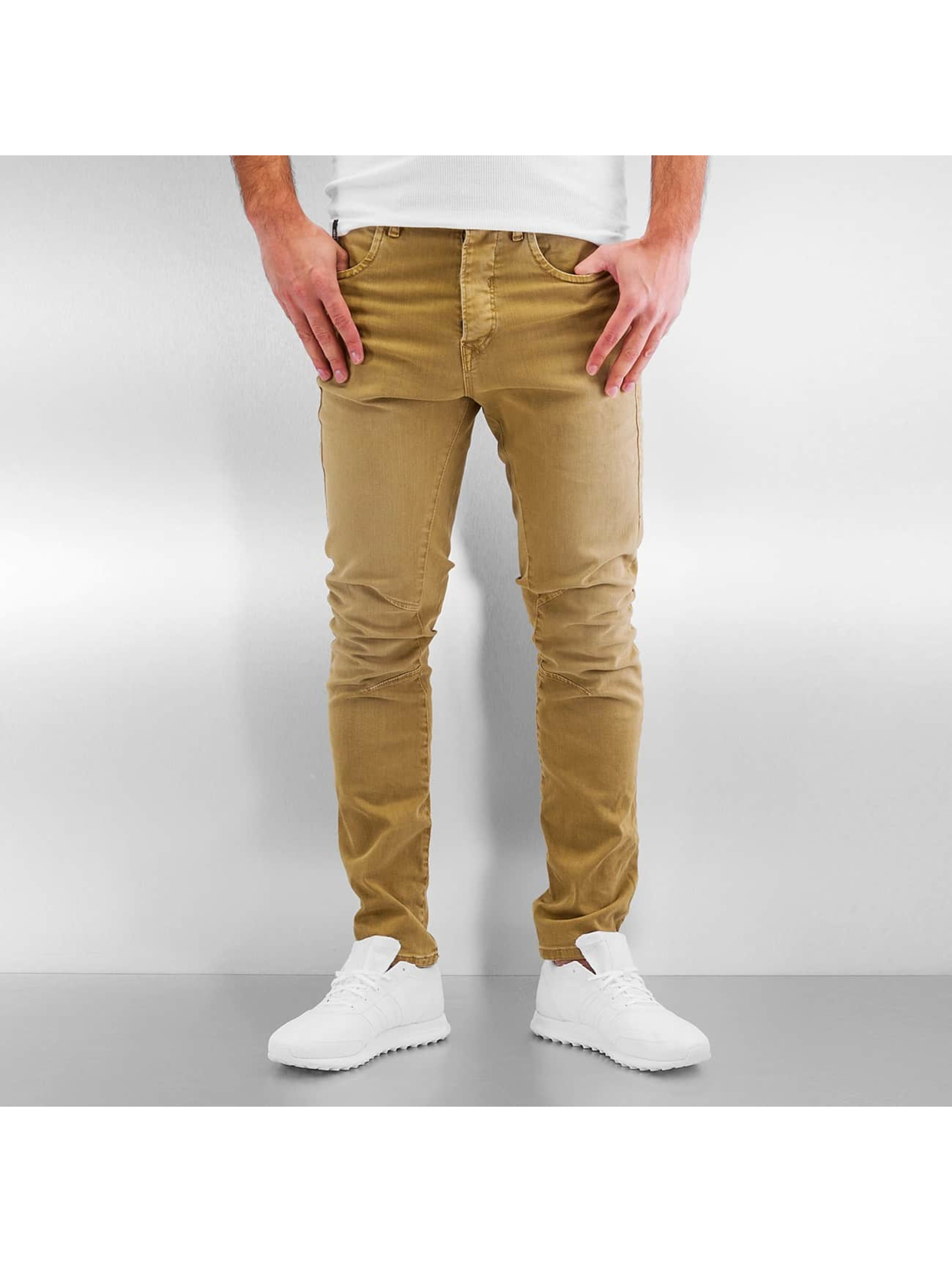 Jack & Jones Slim Fit Jeans jjIluke jjEcho JOS 999 hnedá
